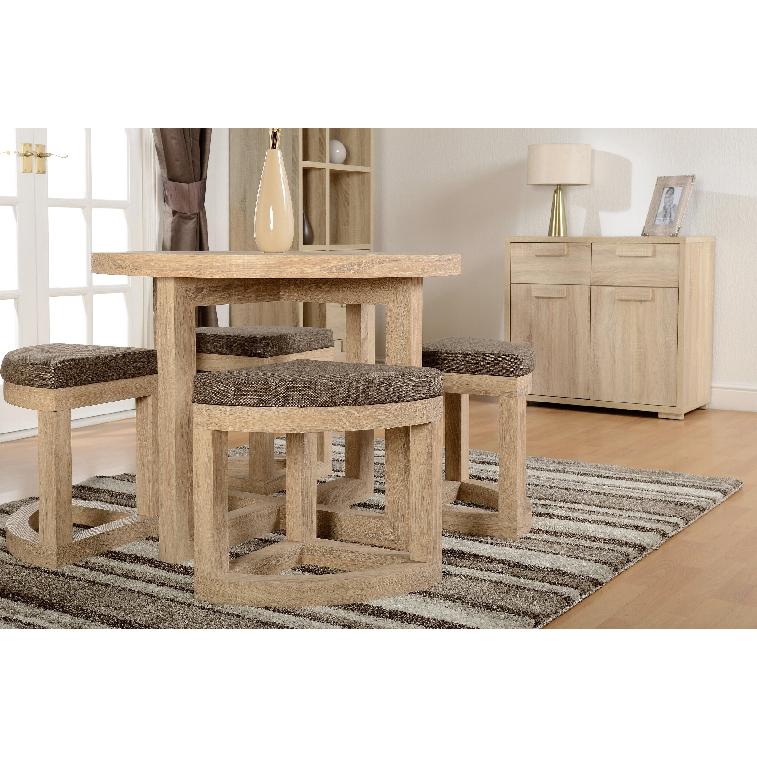 Home Haus Cambourne Dining Table And 4 Chairs Reviews Wayfair Uk