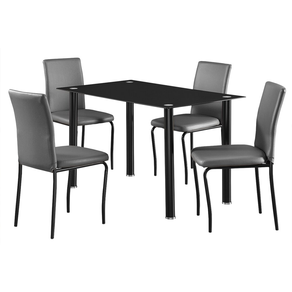 Home & Haus Bentley Dining Table And 4 Chairs & Reviews