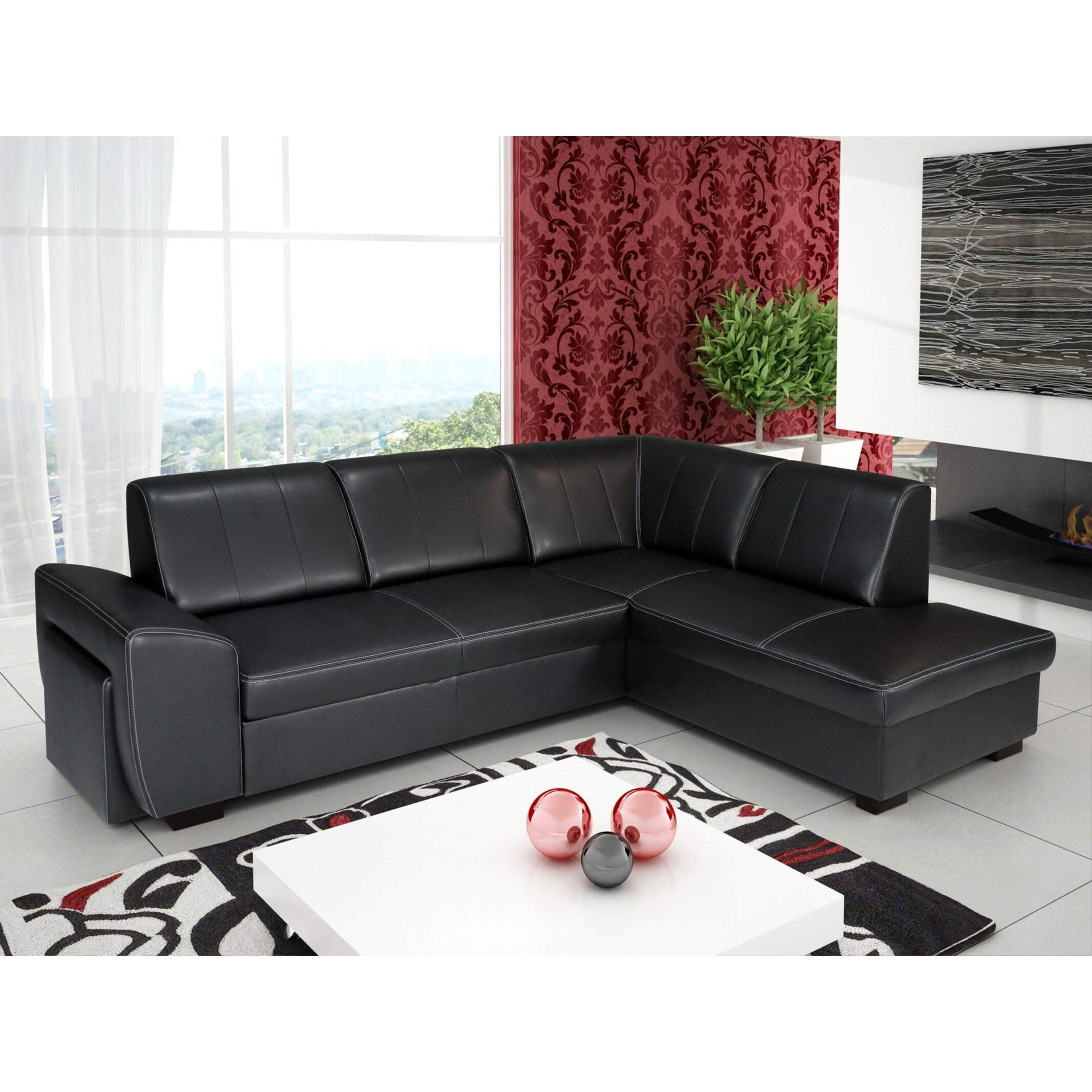home haus orchideus corner sofa bed wayfair uk. Black Bedroom Furniture Sets. Home Design Ideas