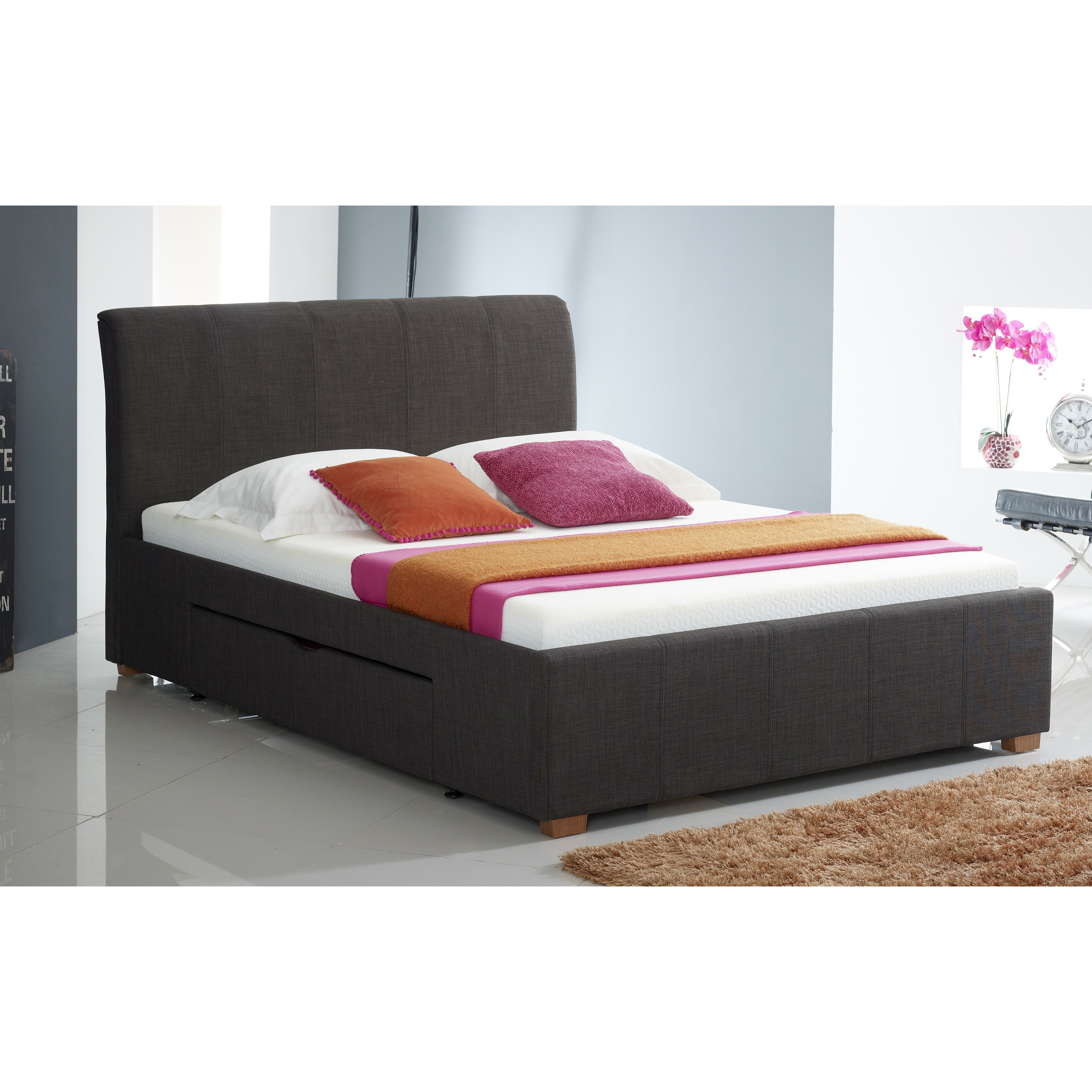 Home Haus Scarlett Upholstered Storage Bed Frame