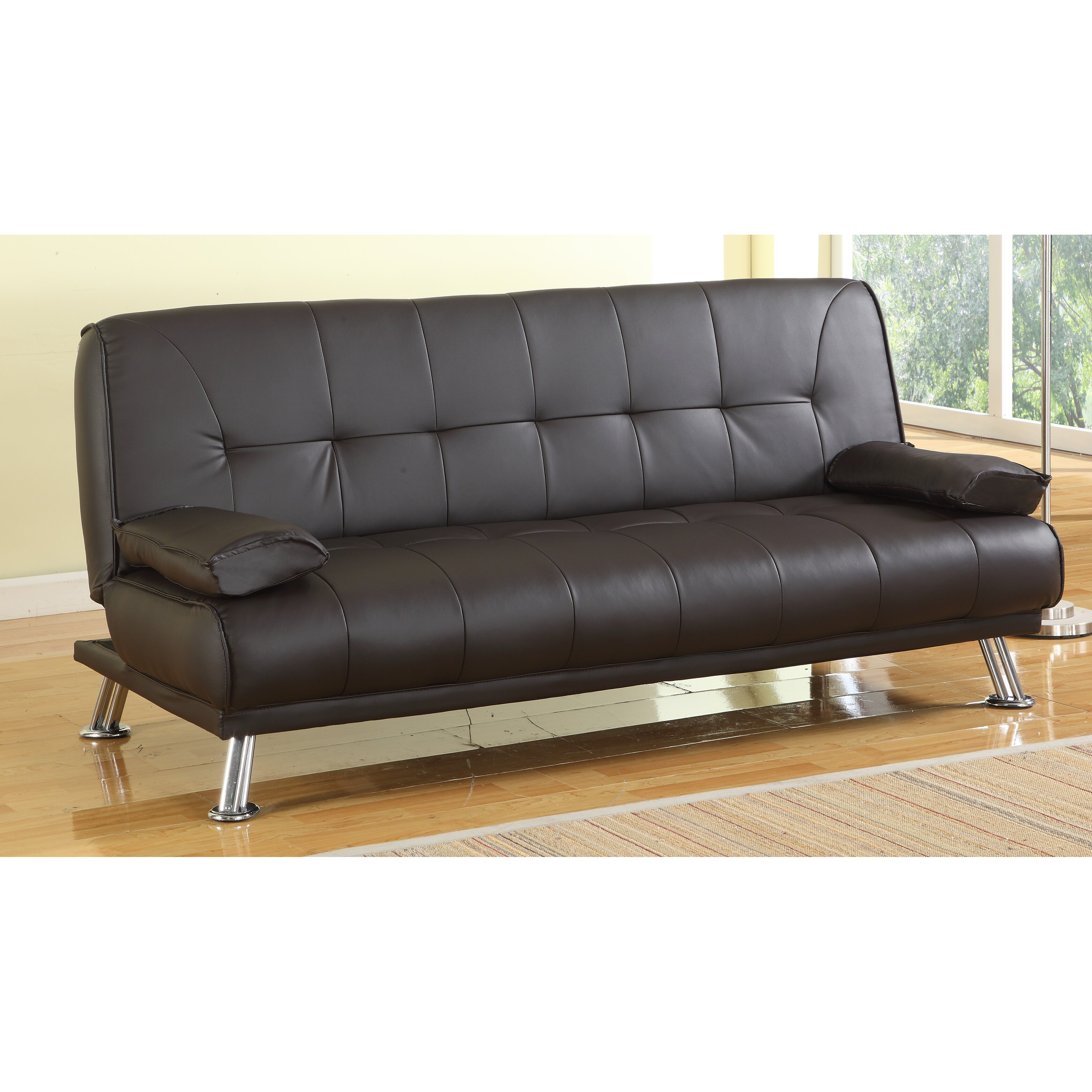 home haus 3 seater clic clac sofa reviews wayfair uk. Black Bedroom Furniture Sets. Home Design Ideas