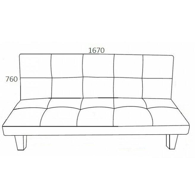 Home haus 2 seater clic clac sofa bed reviews wayfair uk - Clic clac housse ...