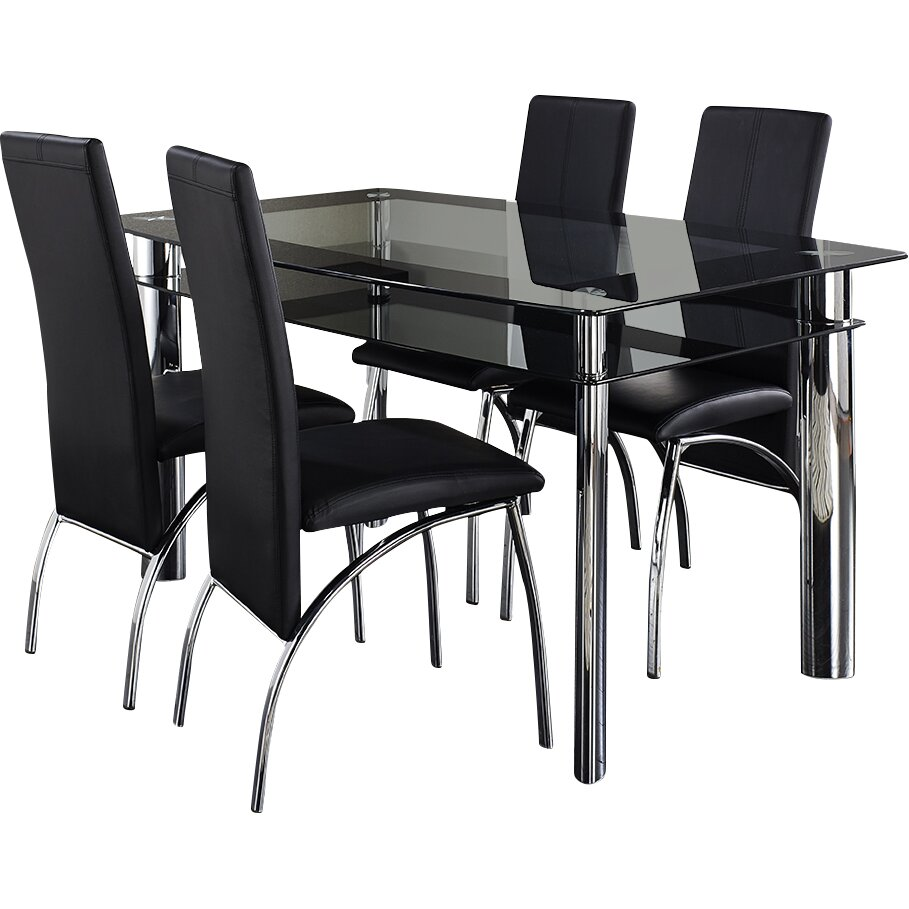 Home Haus Ingham Dining Table And 4 Chairs Reviews Wayfair Uk