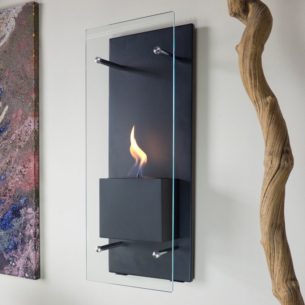 Nu Flame Canello Wall Mount Bio Ethanol Fireplace