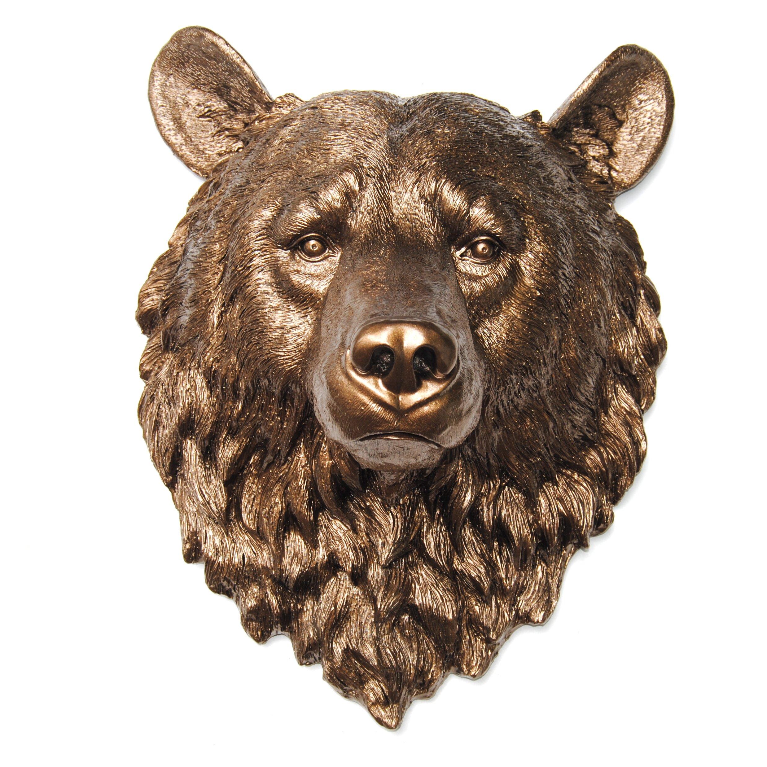 Near And Deer Faux Taxidermy Bear Head Wall D 233 Cor Wayfair