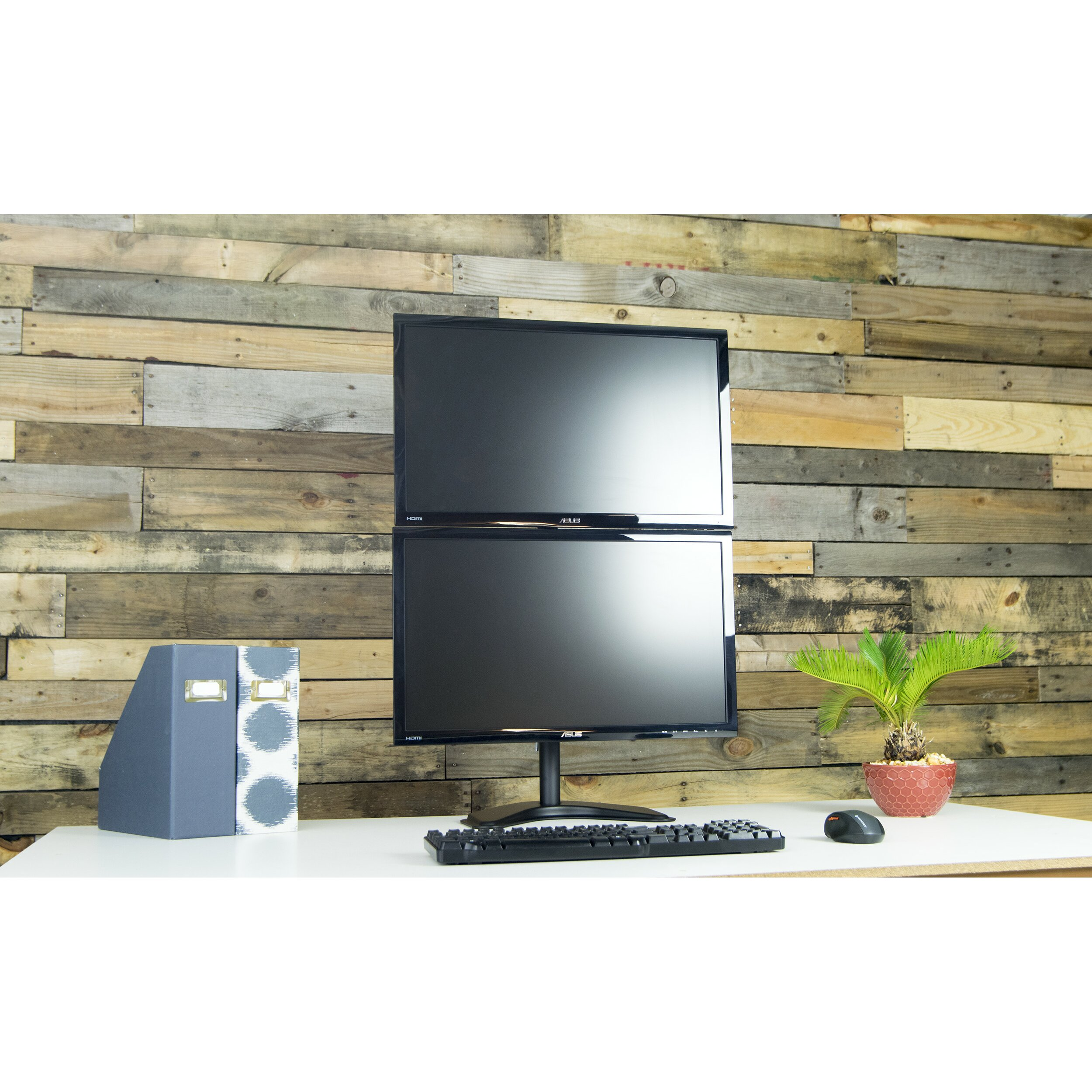 Vivo Dual Lcd Monitor Free Standing Vertical Height