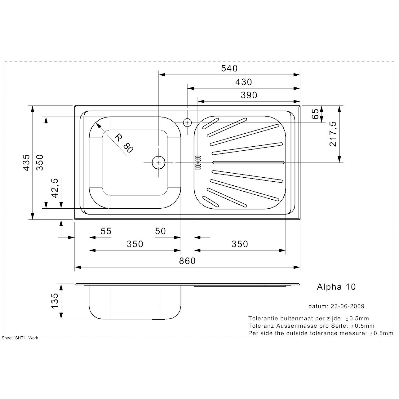 reginox 86cm x single bowl kitchen sink reviews wayfair uk