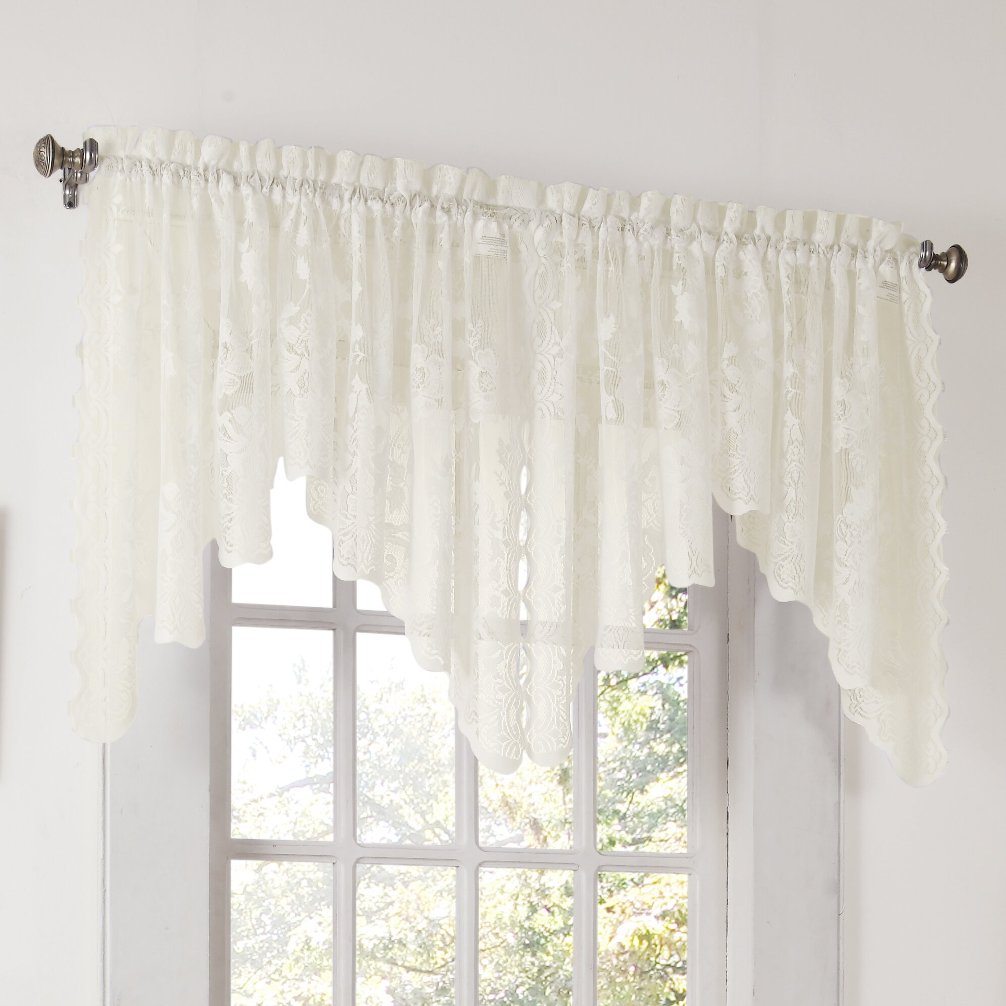 "No. 918 Alison Lace 58"" Curtain Valance & Reviews"