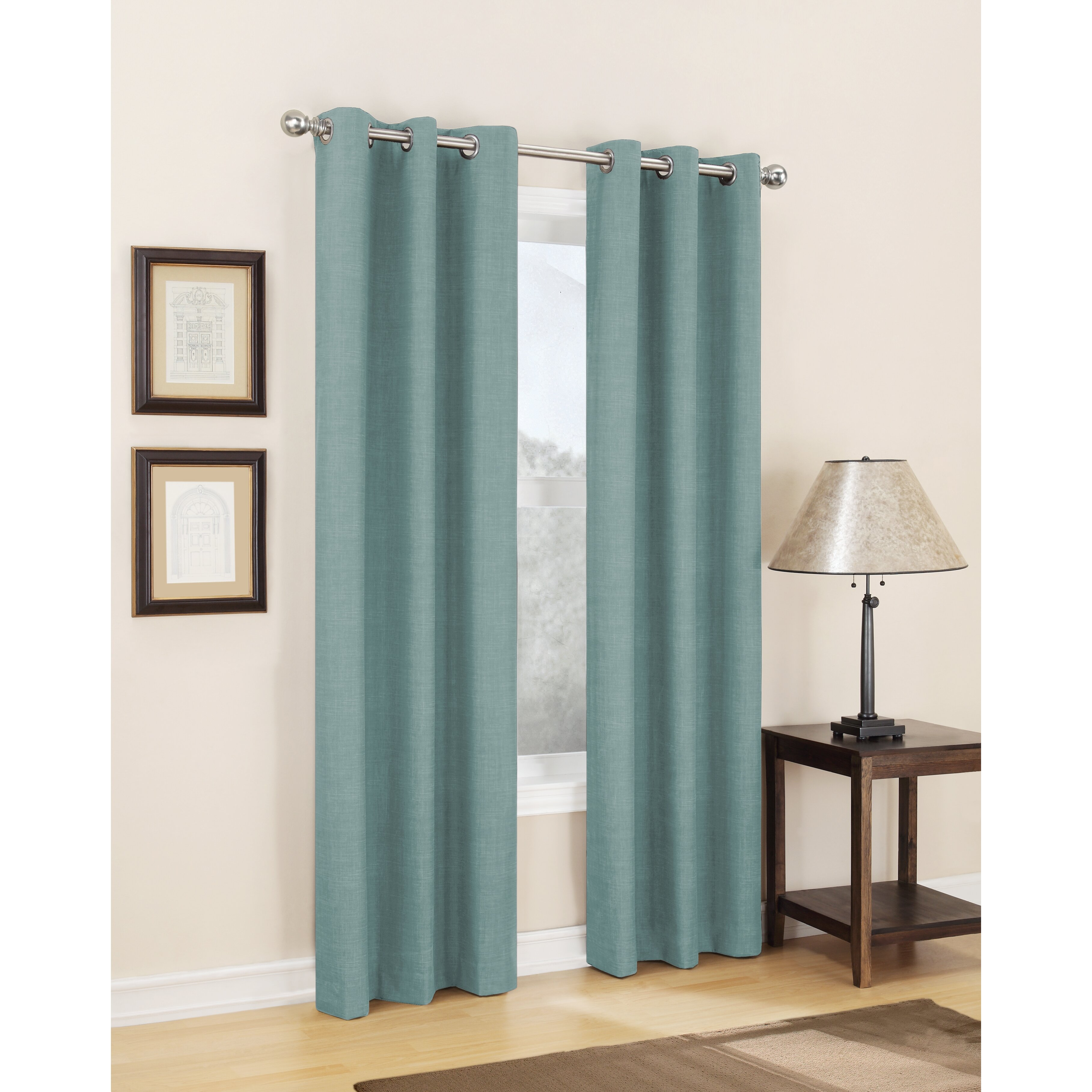 singles in thermal Style selections amhurst 84-in admiral polyester grommet blackout thermal lined single curtain panel at lowe's ss amhurst grommet top room darkening energy panel.