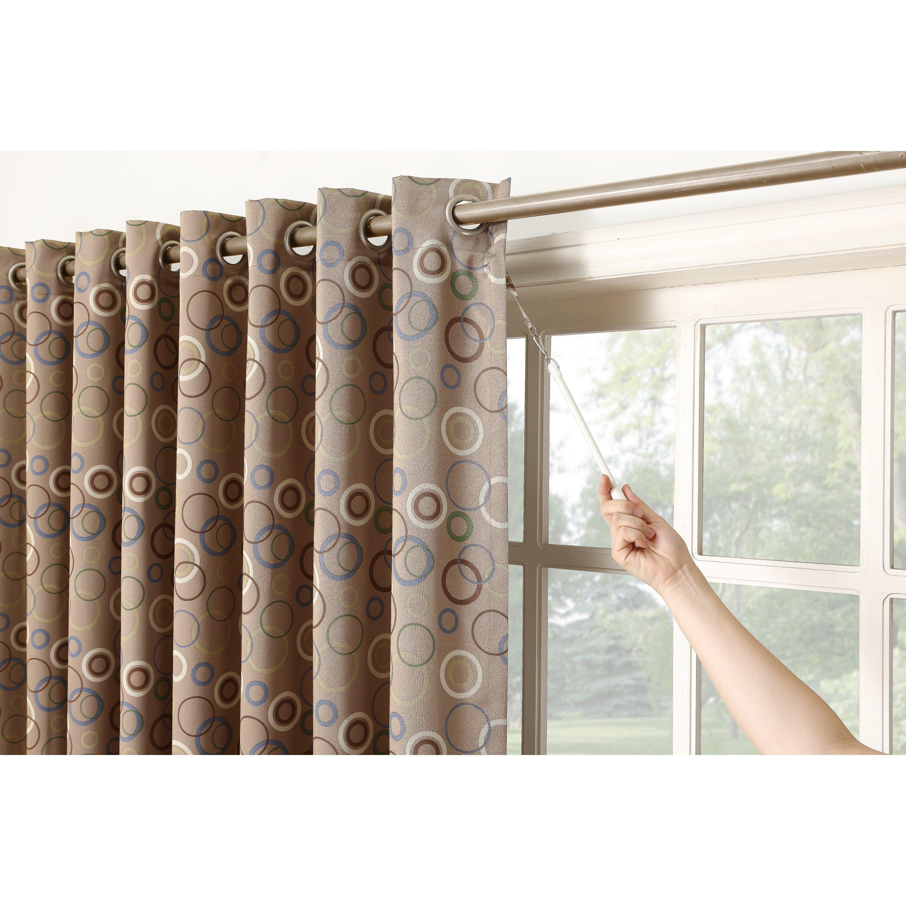 Sun Zero Genesis Extra Wide Grommet Patio Door Curtain