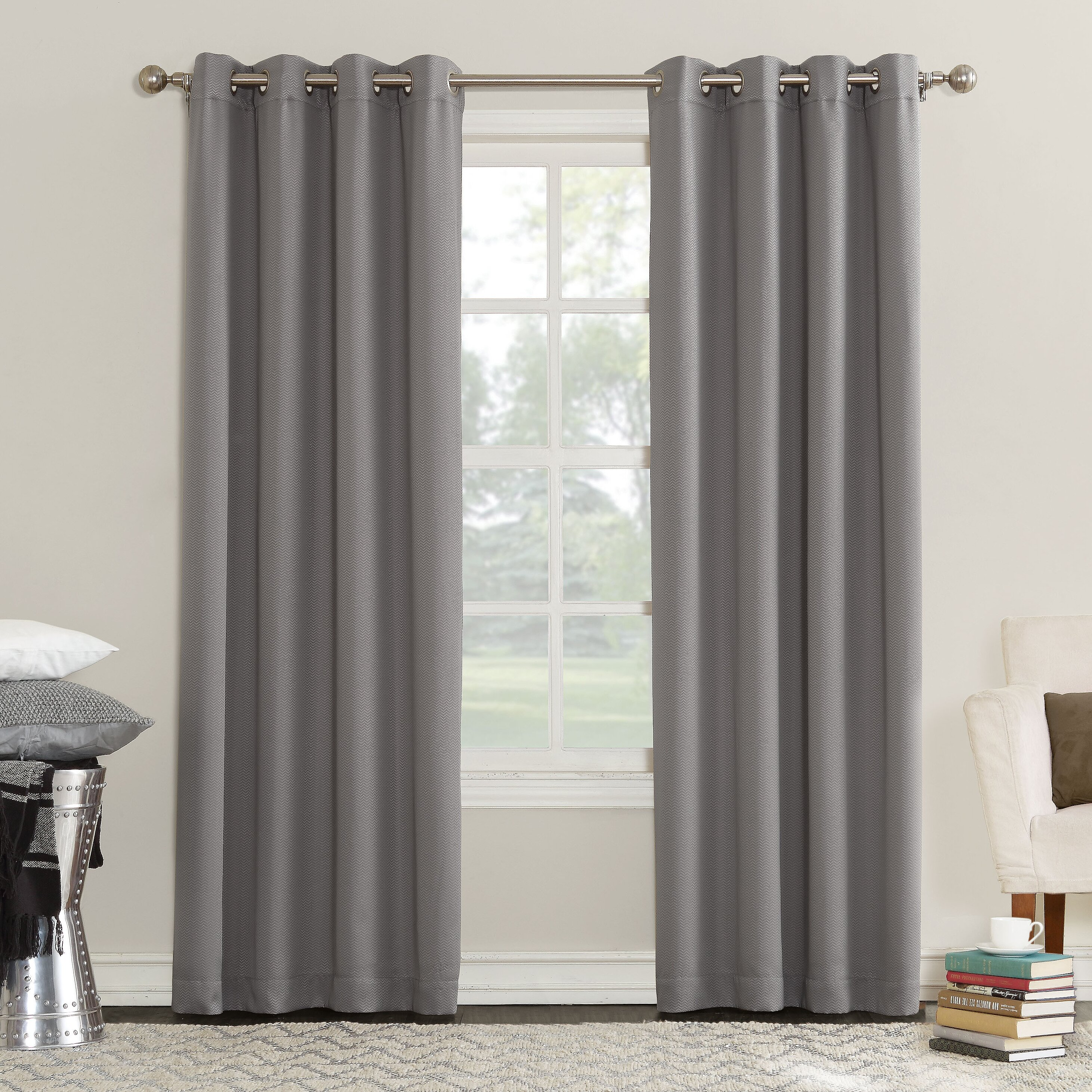 Sun Zero Esther Triple Layer Blackout Grommet Single Curtain Panel Reviews Wayfair