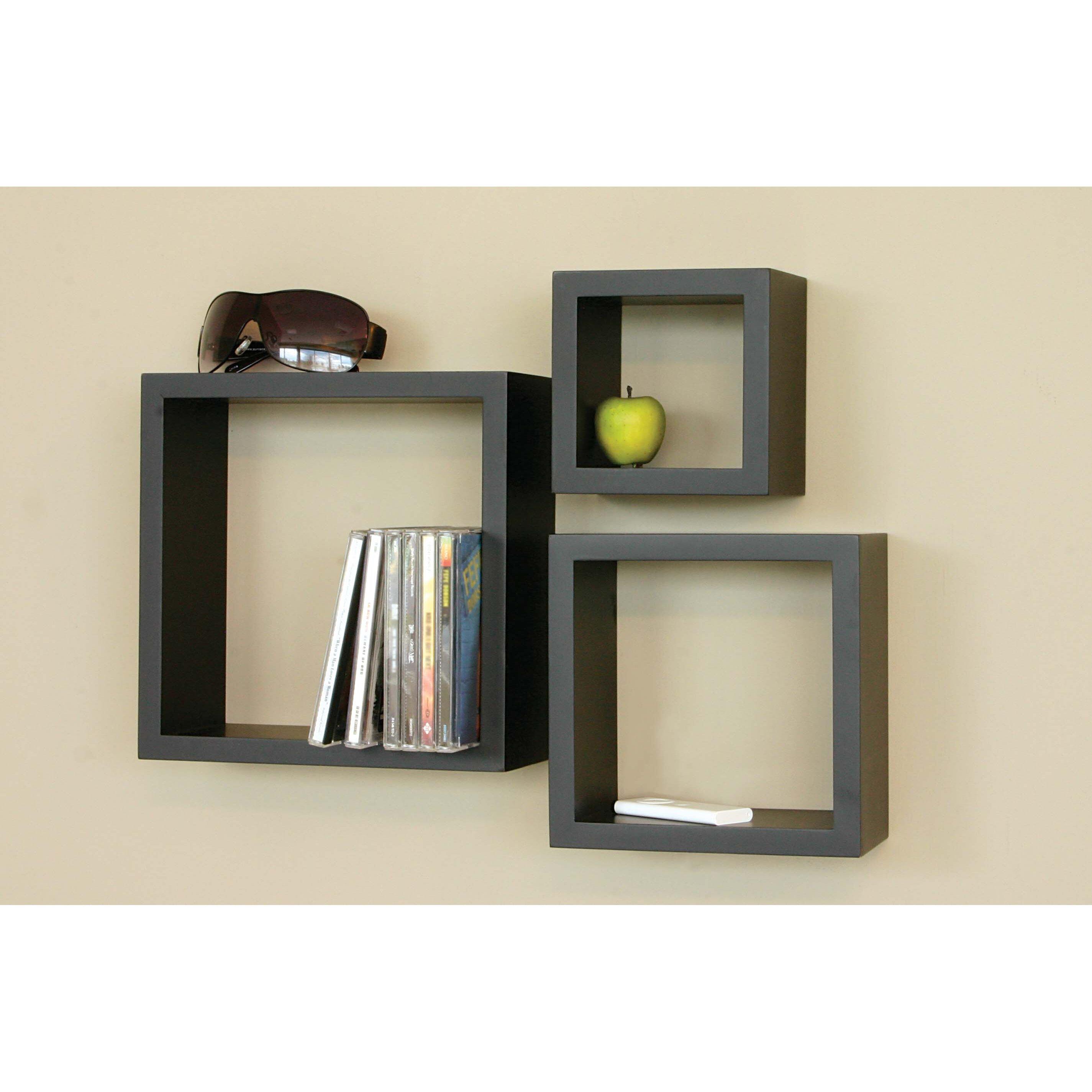 Nexxt design cubbi 3 piece wall shelf set reviews wayfair for Rack design for bedroom