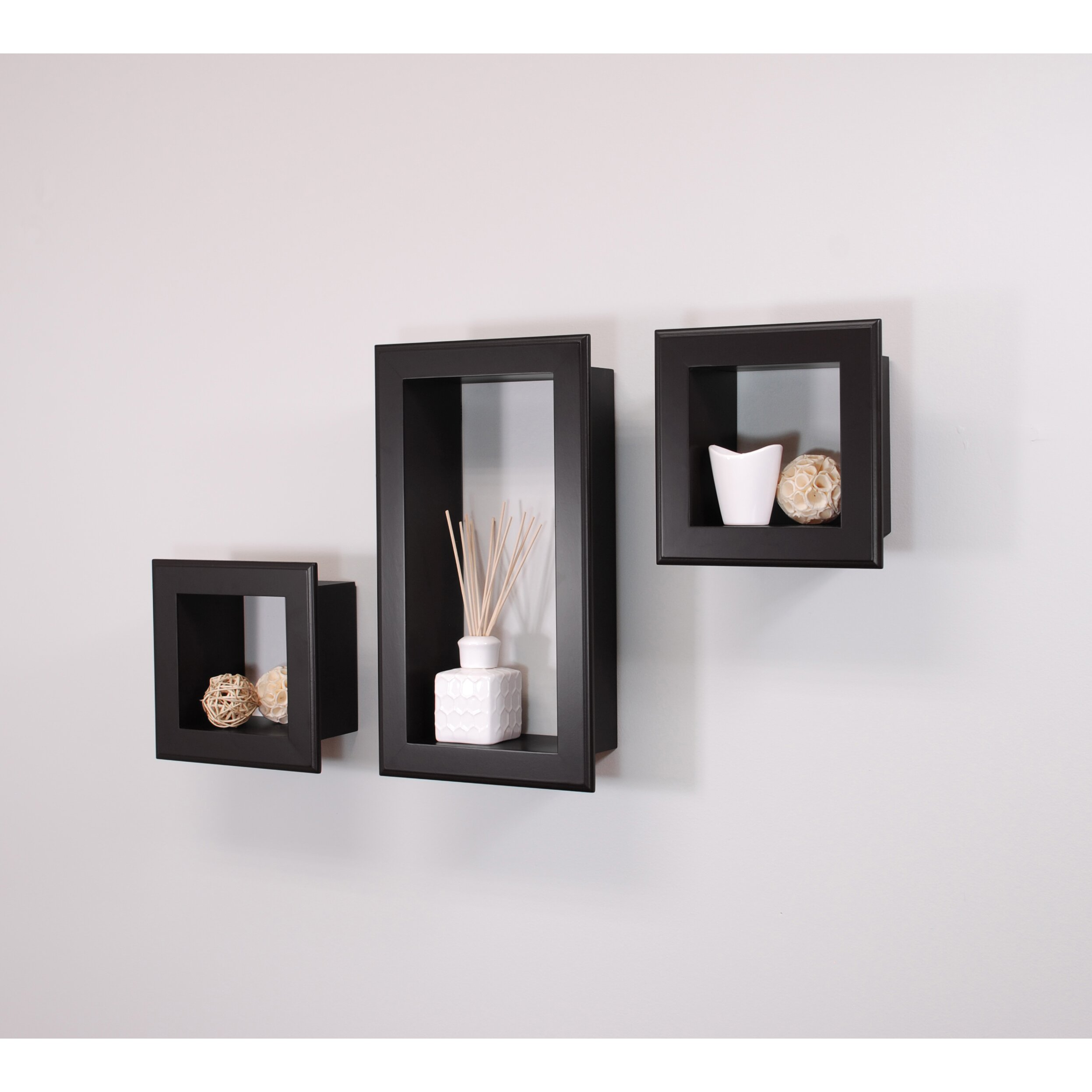Nexxt Design Cubbi Framed 3 Piece Wall Shelf Set Reviews