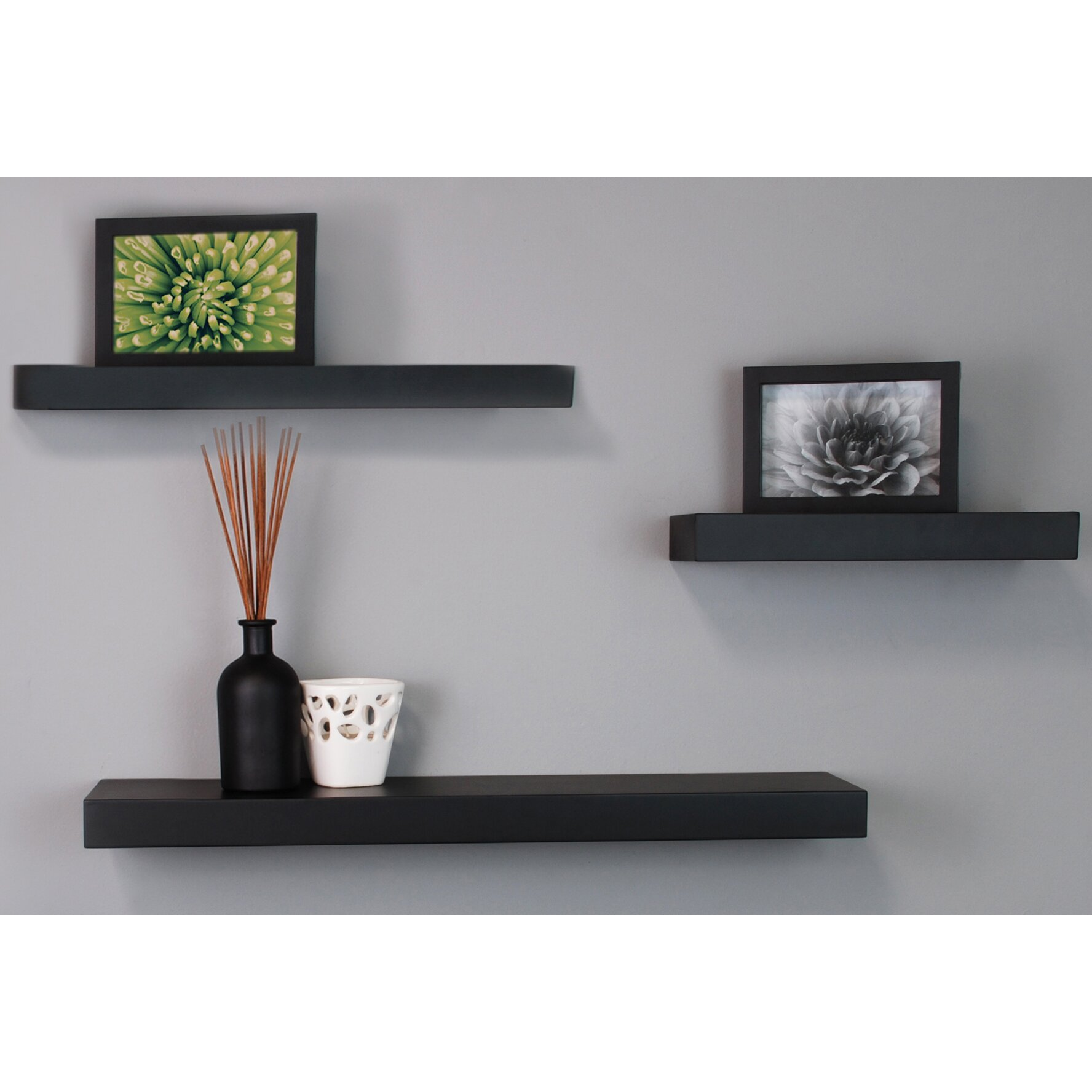 Nexxt design 3 piece maine wall shelf set reviews wayfair for Wall piece design