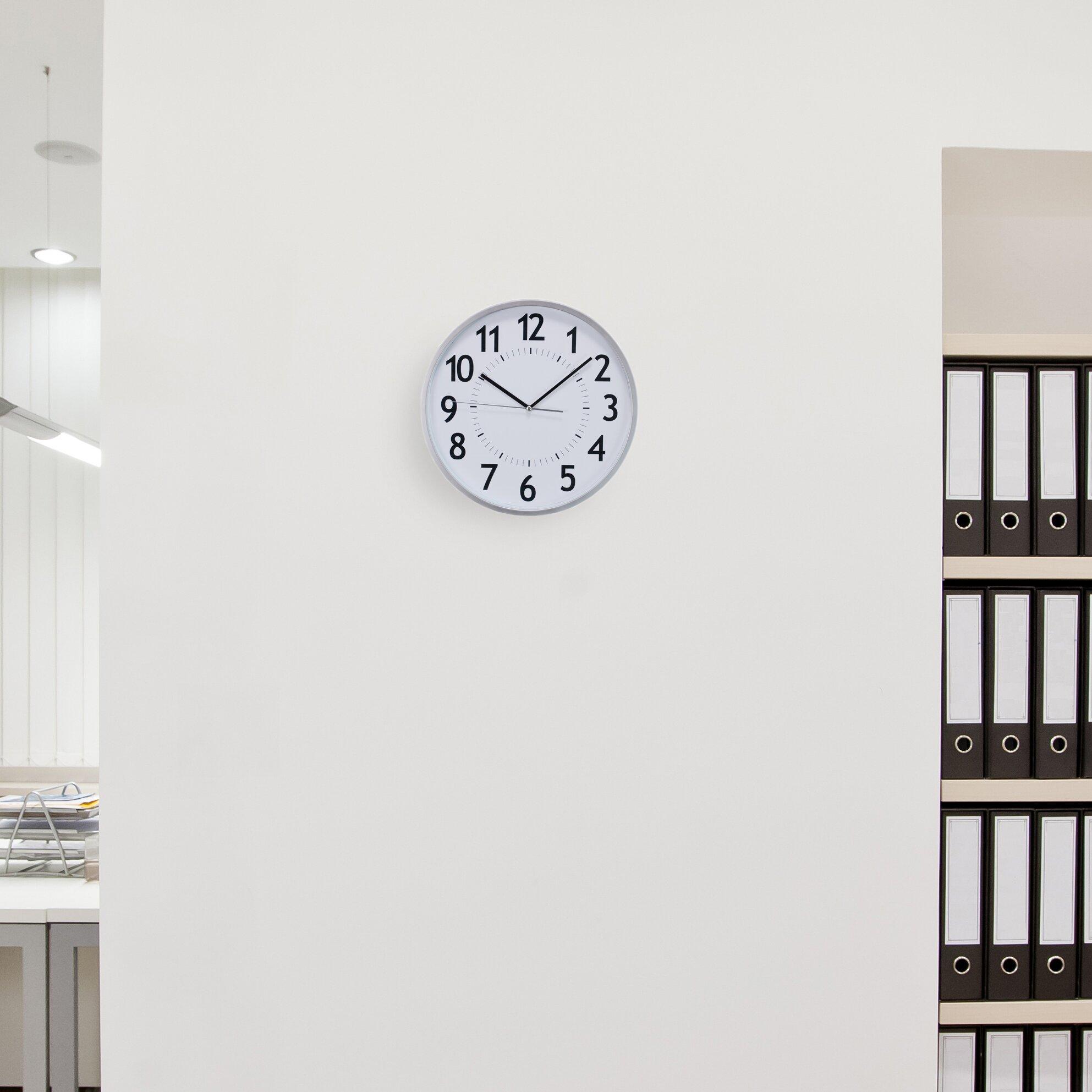 Wall Grace Design : Nexxt design kiera grace quot synchro silent wall clock