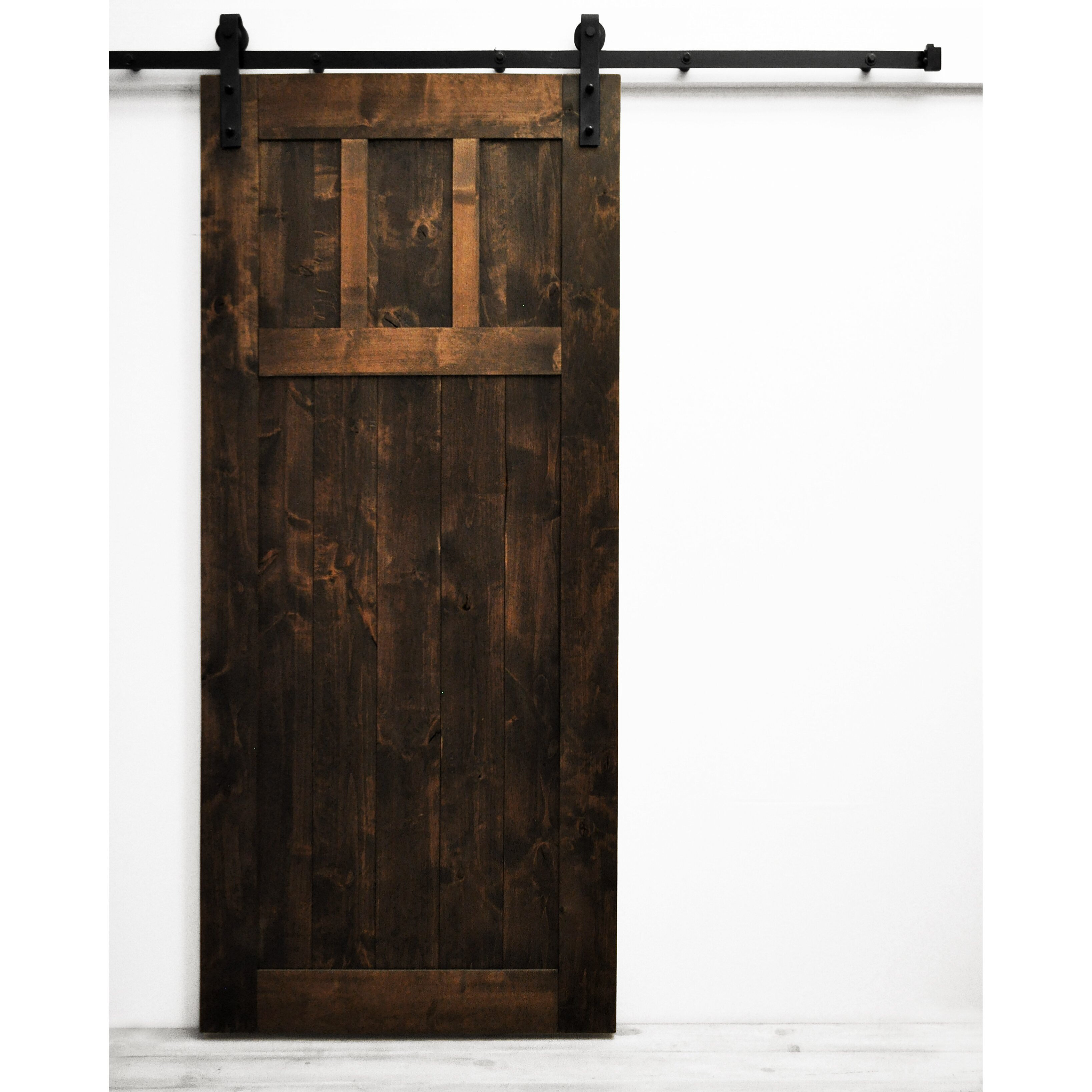 Dogberry Collections Craftsman Barn Door With Hardware Wayfair