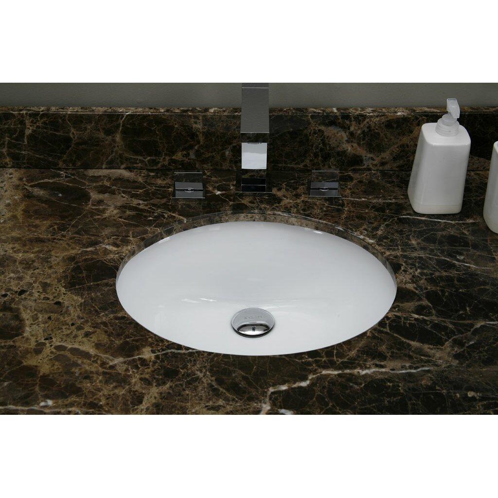 Ryvyr Undermount Oval Vitreous China Bathroom Sink Reviews Wayfair