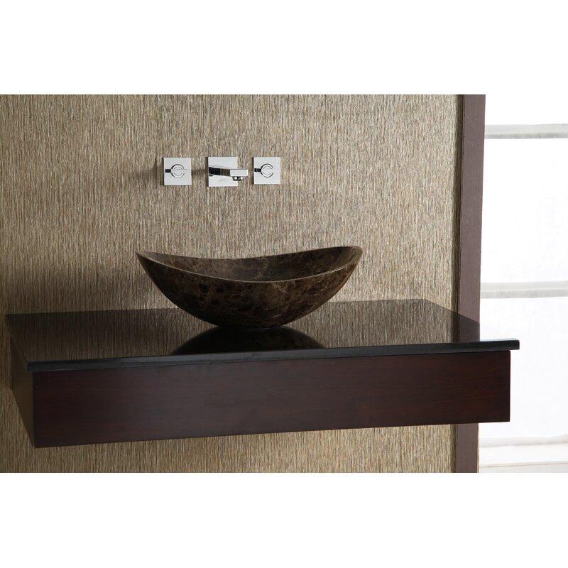 Ryvyr Oval Marble Vessel Bathroom Sink & Reviews