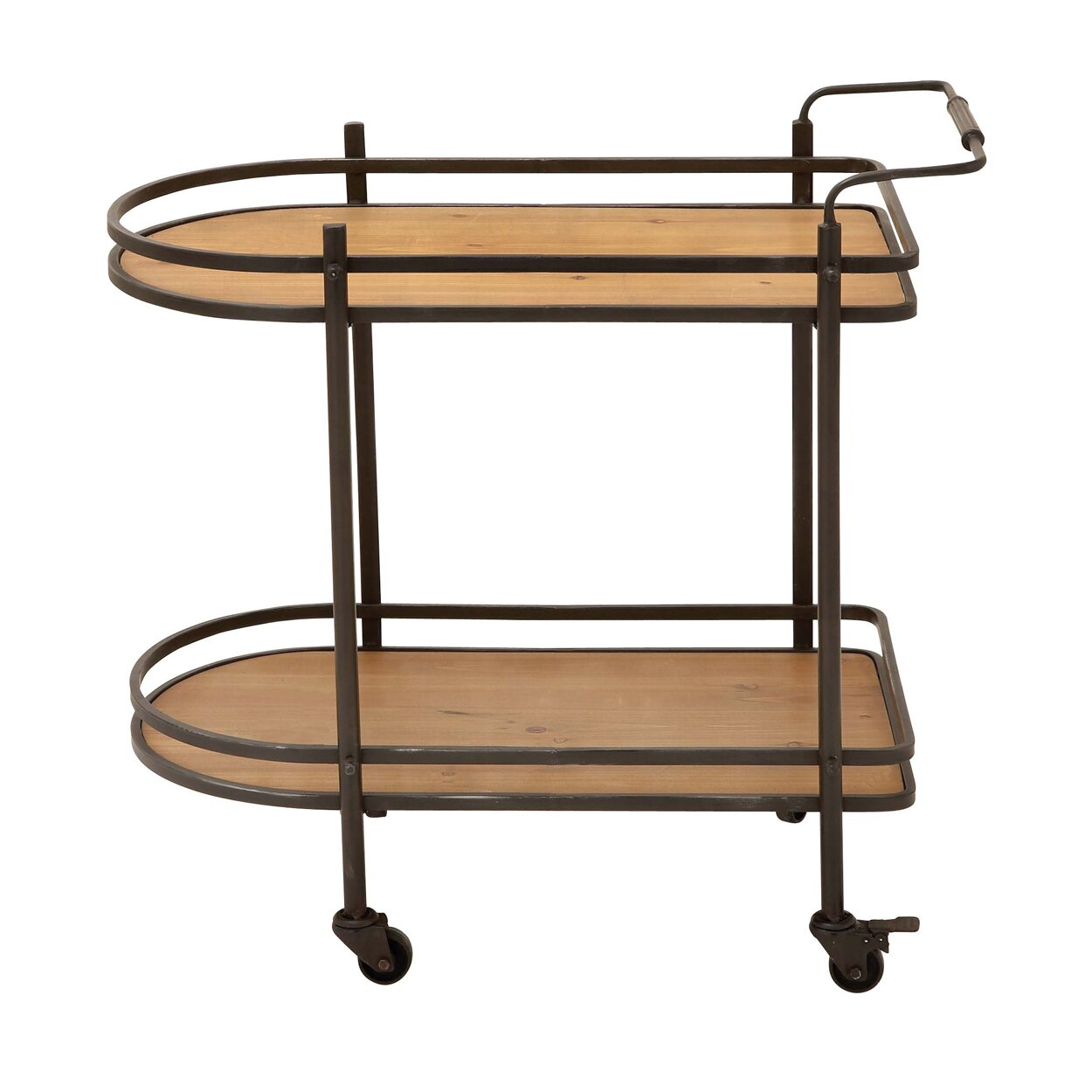 Ec world imports mobile tea serving and kitchen bar cart for Mobili bar cart