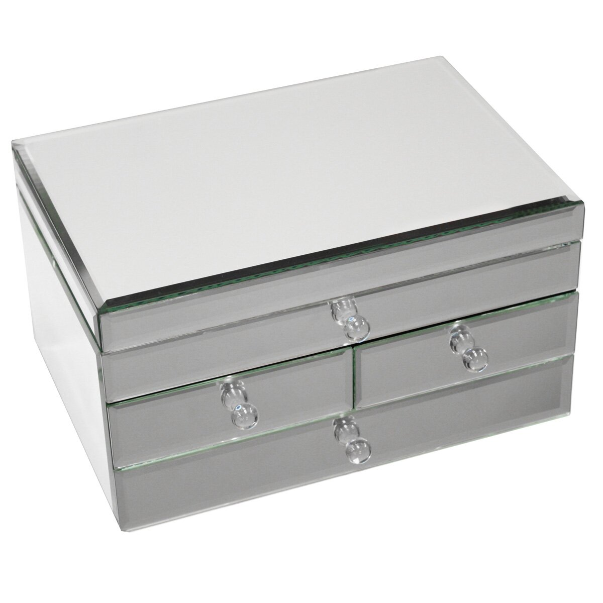 Ec world imports legacy 3 drawer jewellery box reviews for Mirror jewellery box