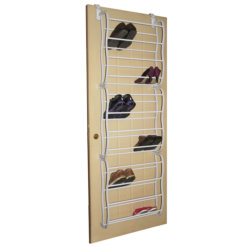 Linen depot direct studio 707 12 tier overdoor shoe for Door shoe organizer
