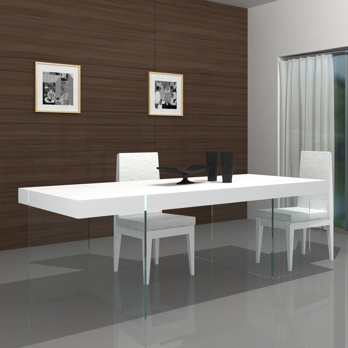 J m furniture cloud modern dining table reviews for Modern dining t