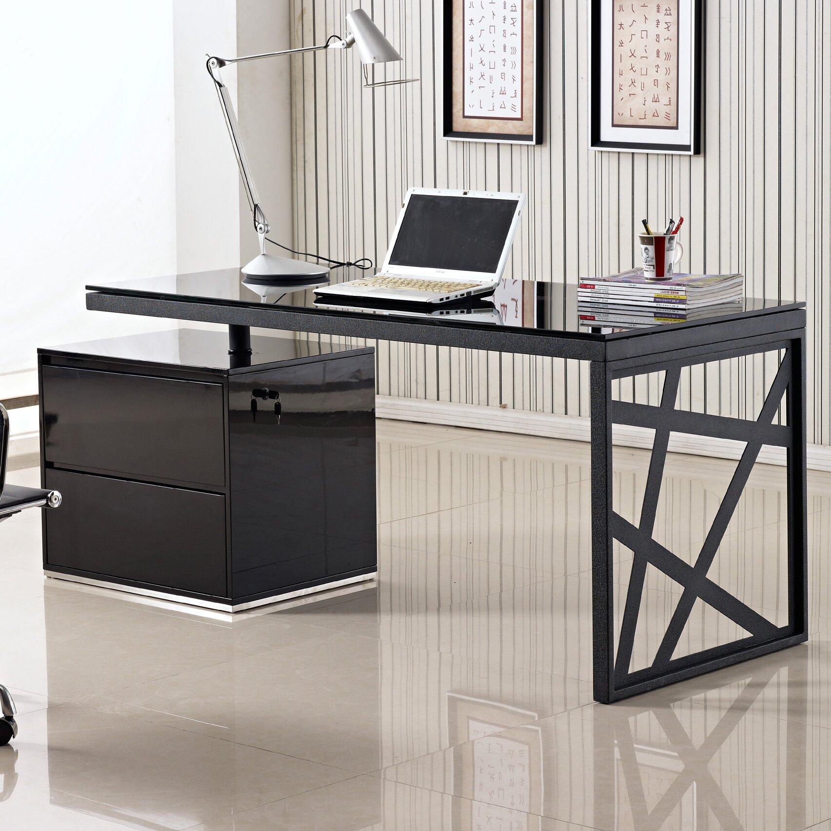 J M Furniture Modern Computer Desk Reviews Wayfair