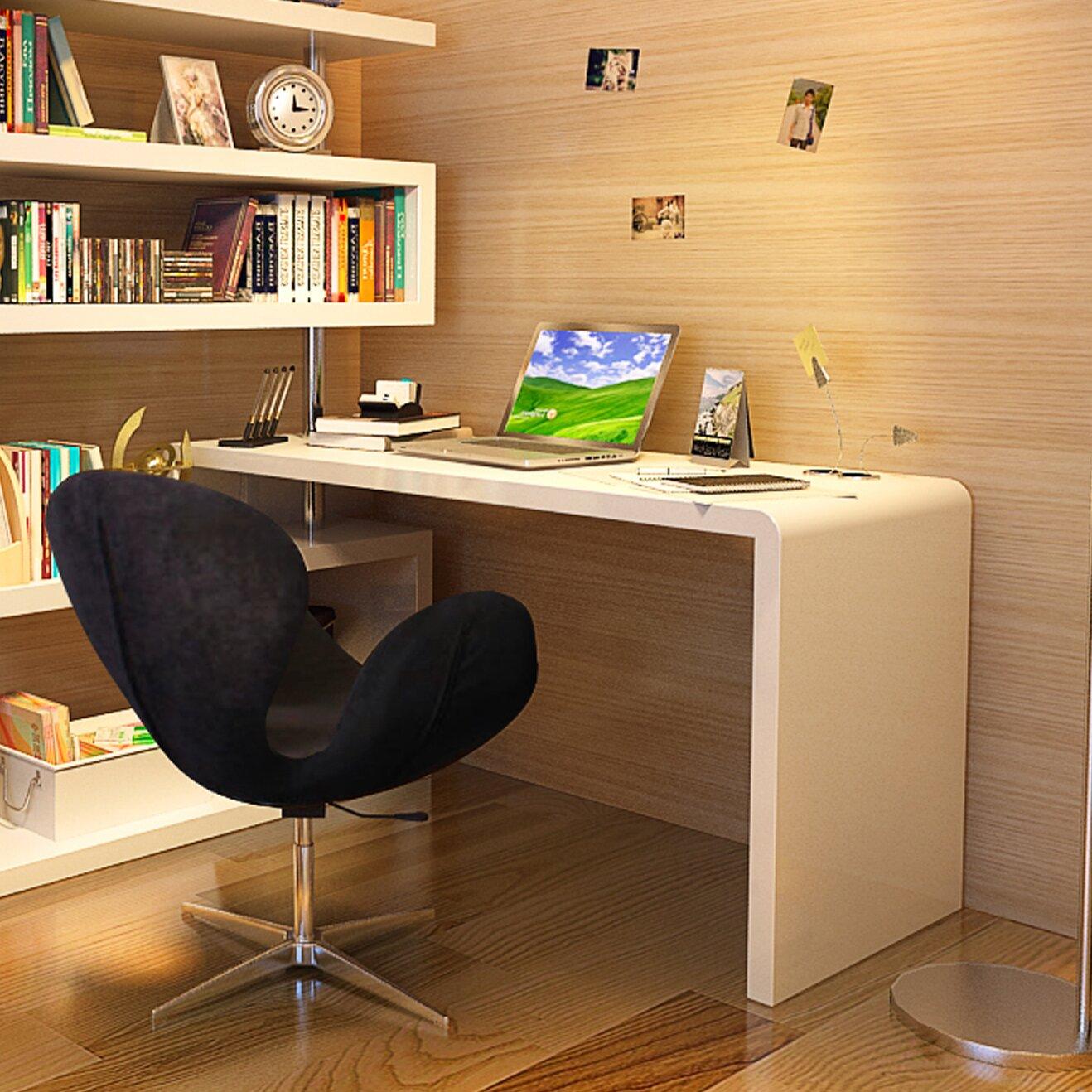 J M Furniture Modern Computer Desk With Hutch Reviews Wayfair Supply