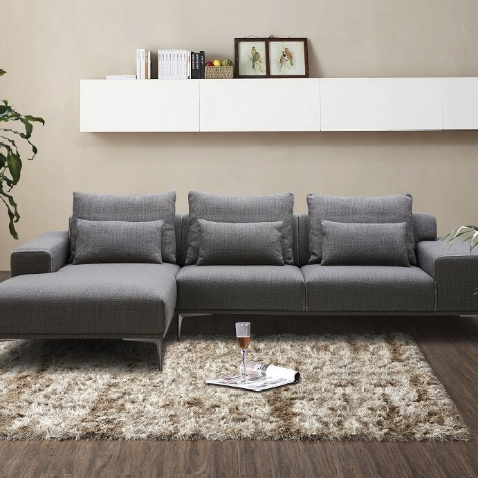 J&M Furniture Christian Fabric Sectional & Reviews