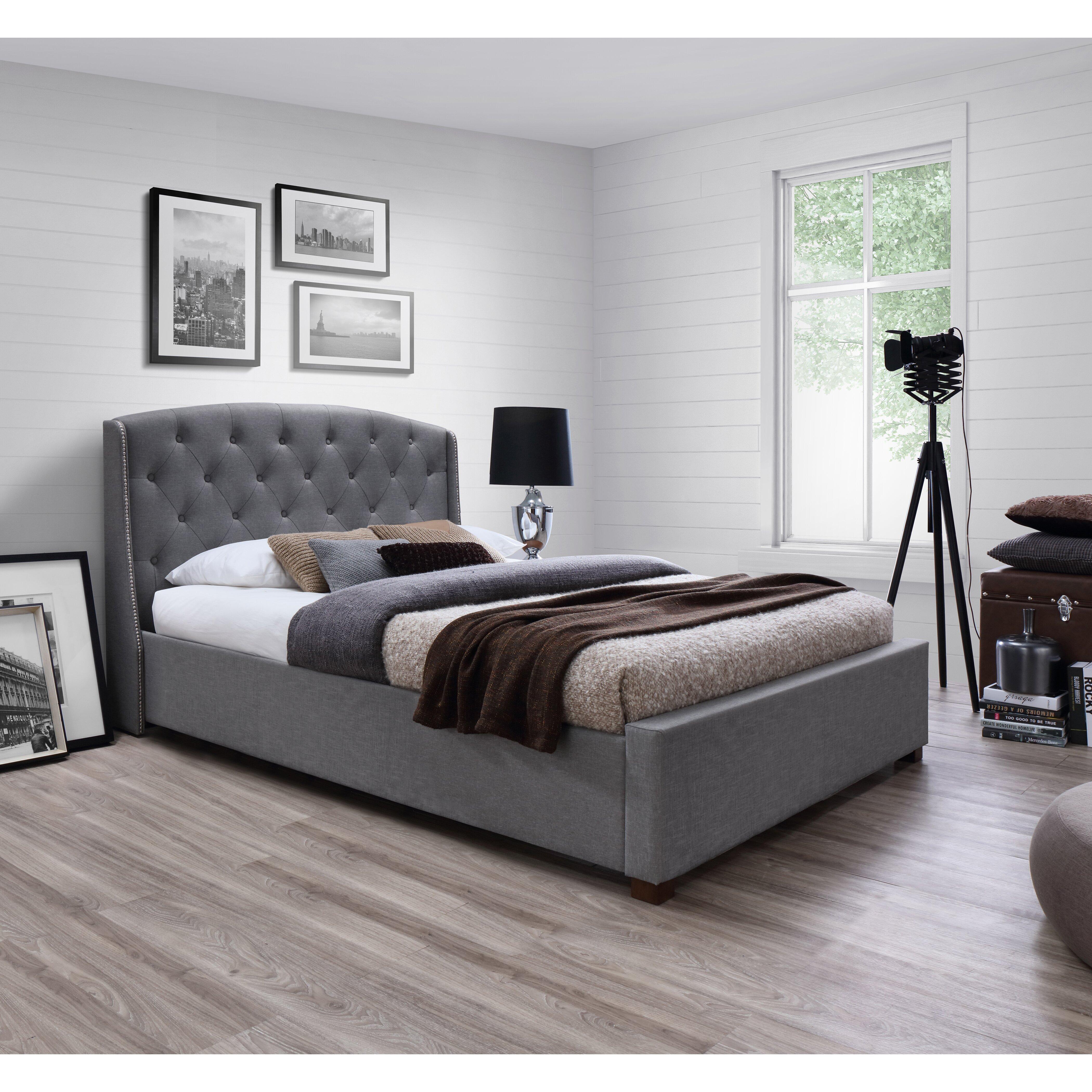 J M Furniture Upholstered Platform Bed Reviews Wayfair