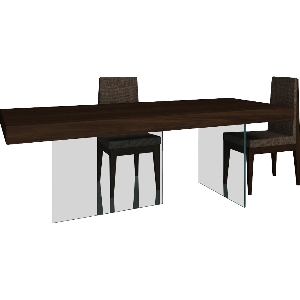 J m furniture float modern dining table reviews wayfair for Floating dining table