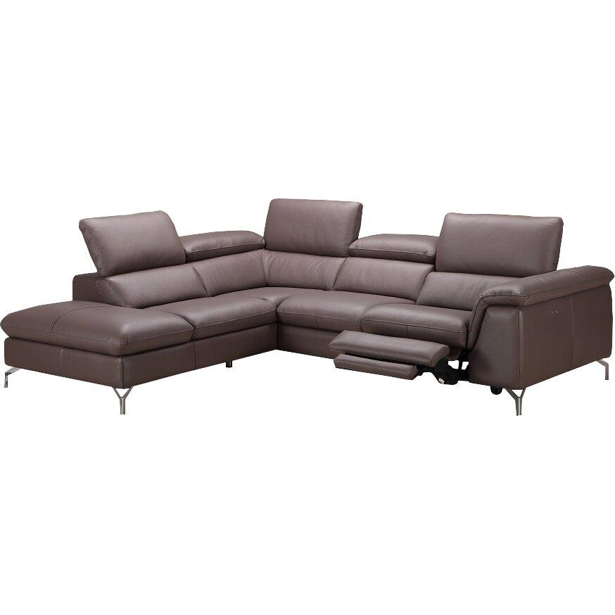 J M Furniture Anastasia Premium Leather Sectional Reviews