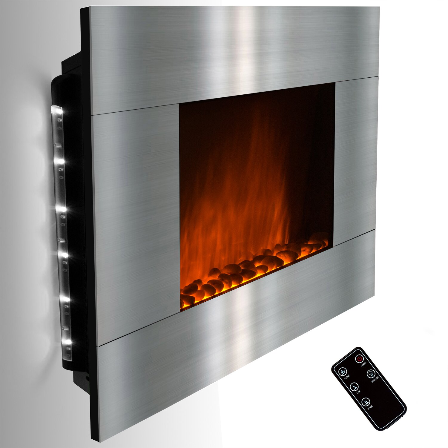 Wall: GoldenVantage Wall Mount Electric Fireplace & Reviews