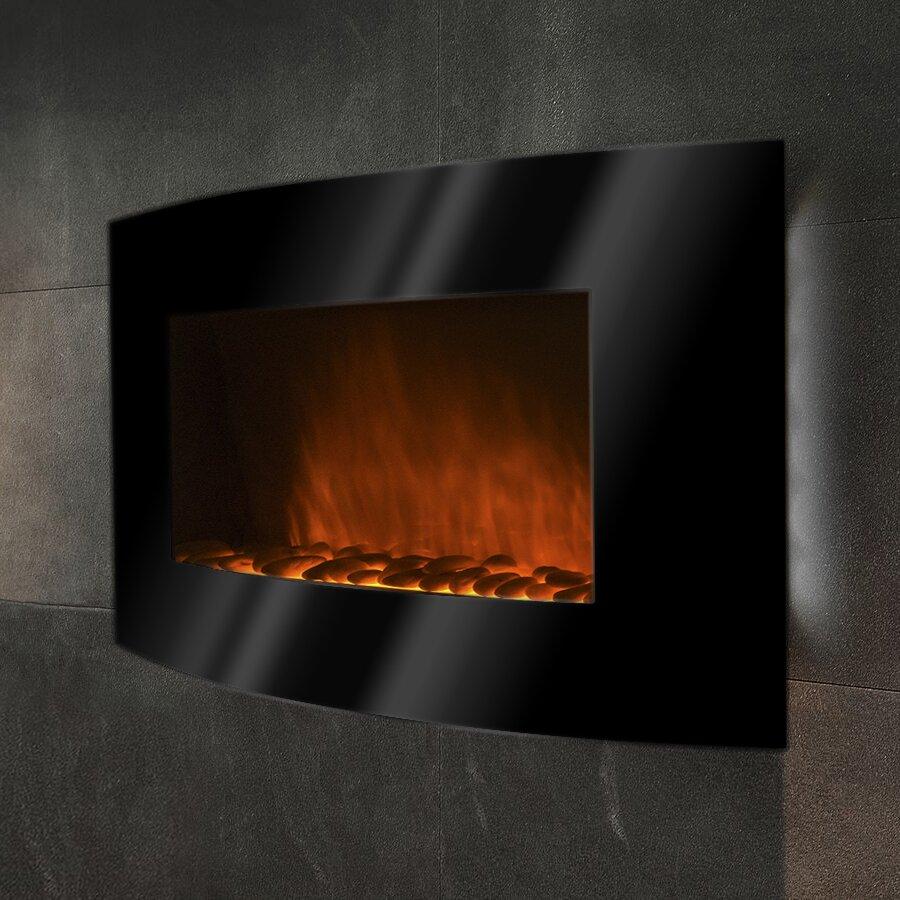 amazoncom touchstone 80001 onyx wall mounted electric fireplace
