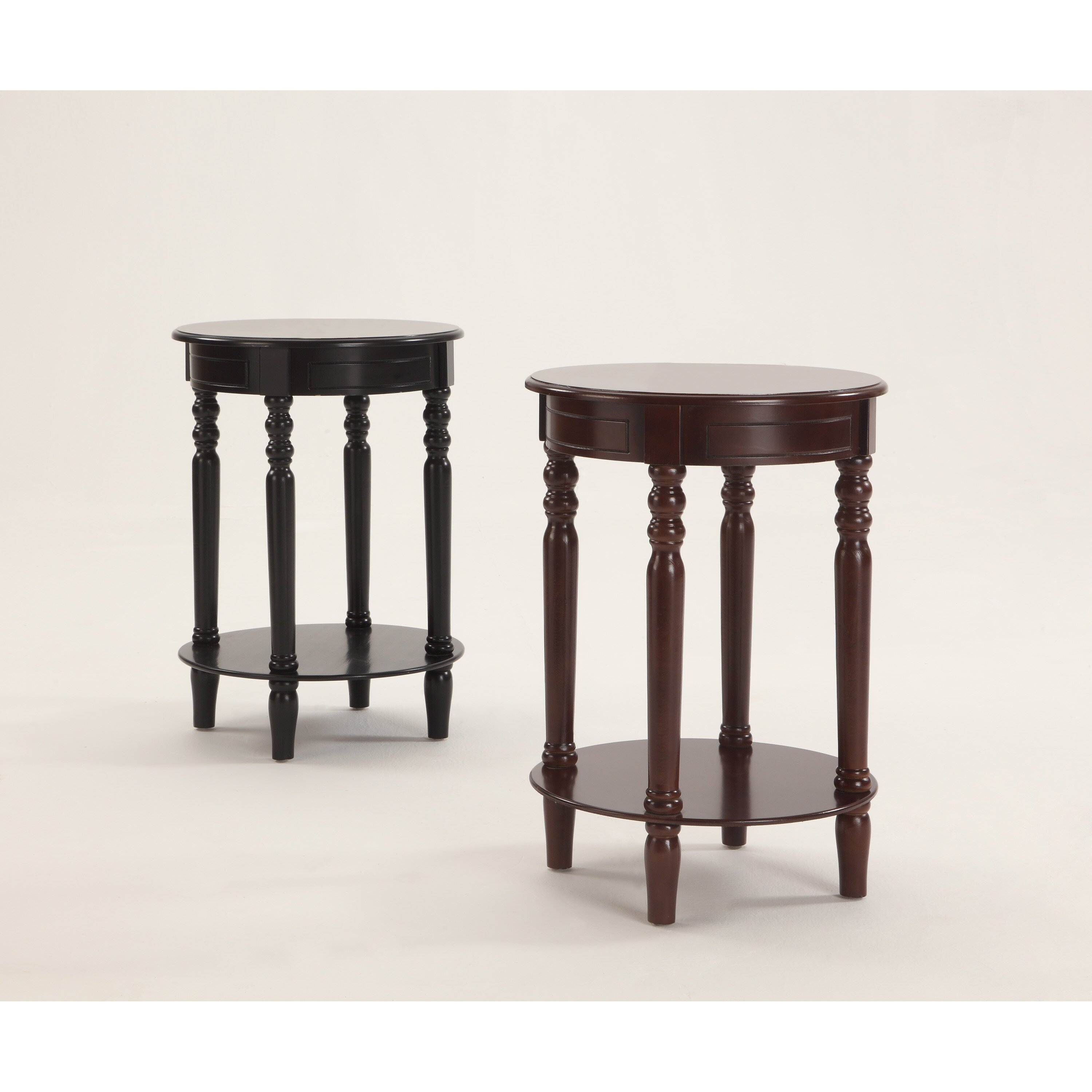 Crown mark laurel chairside table reviews wayfair for Chairside table
