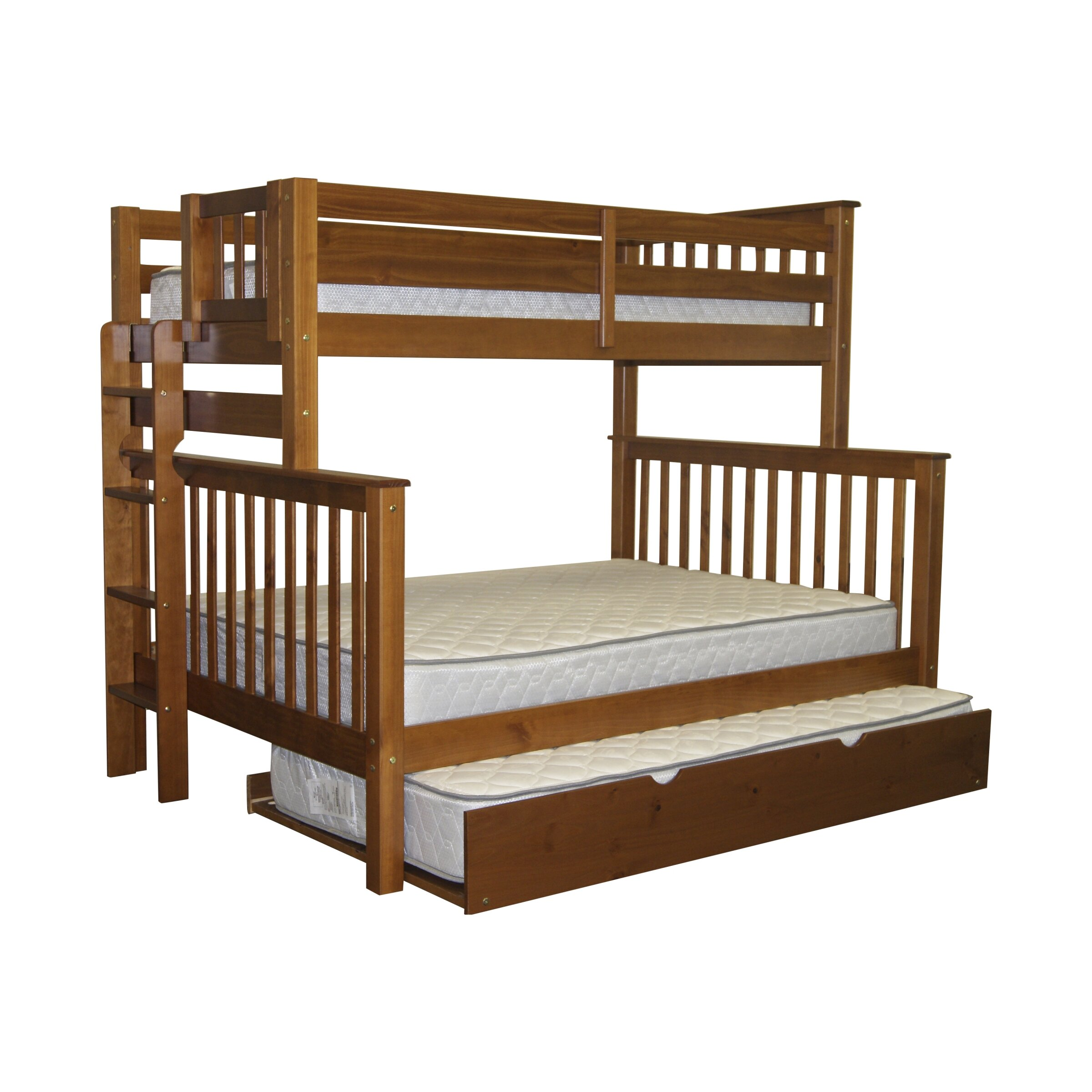 bedz king mission twin over full bunk bed reviews wayfair. Black Bedroom Furniture Sets. Home Design Ideas