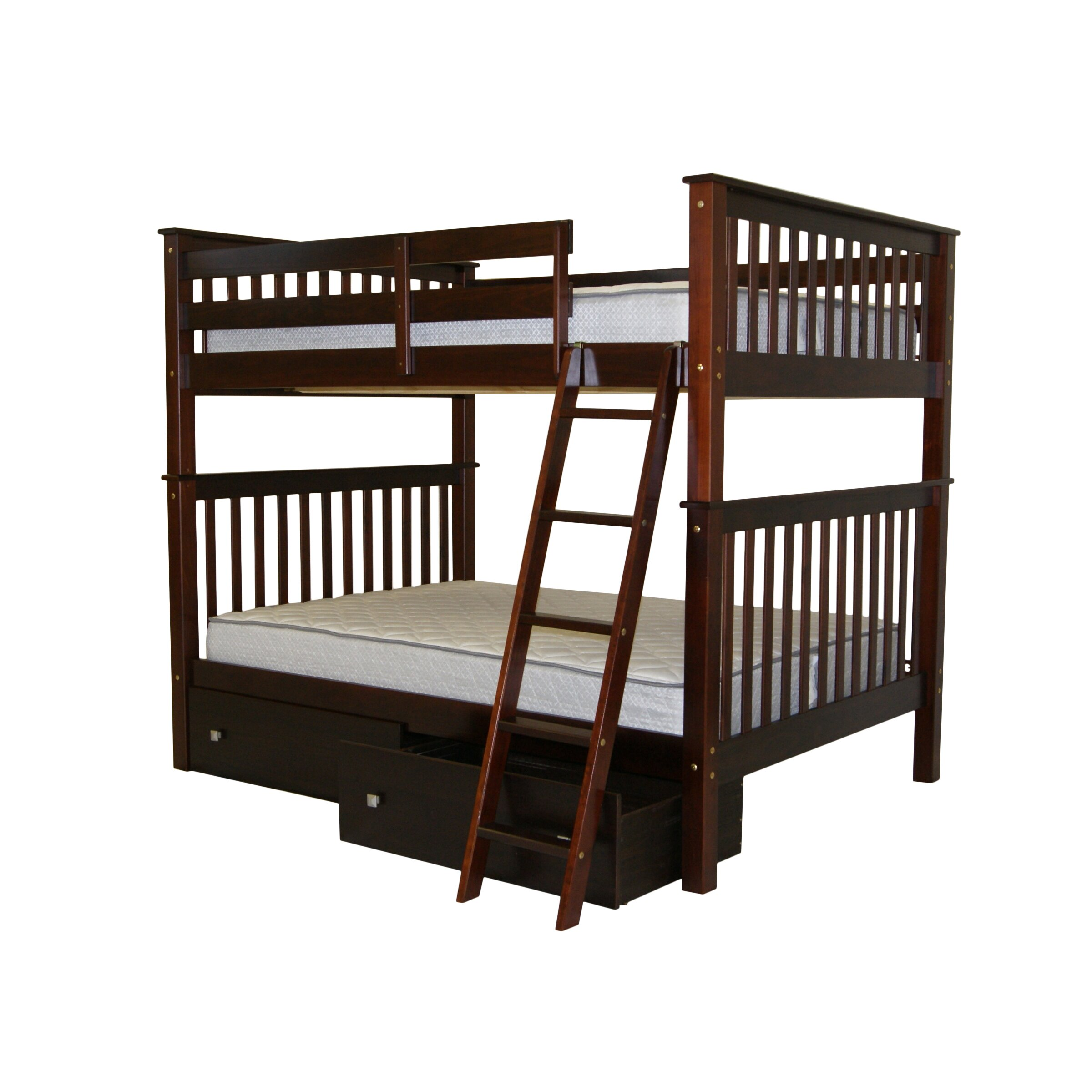 bedz king mission full over full bunk bed with full. Black Bedroom Furniture Sets. Home Design Ideas