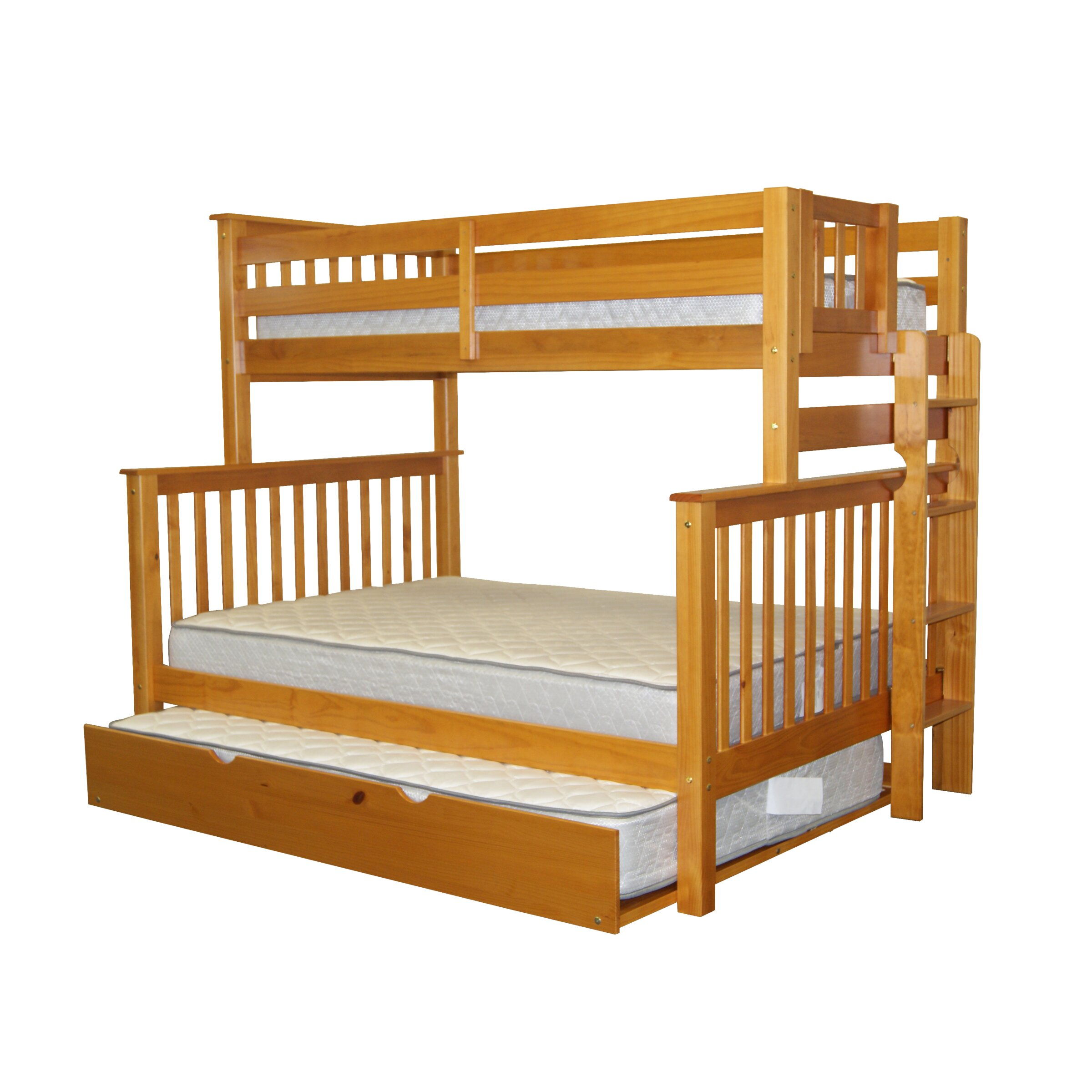 Bedz King Mission Twin Over Full Bunk Bed With Full
