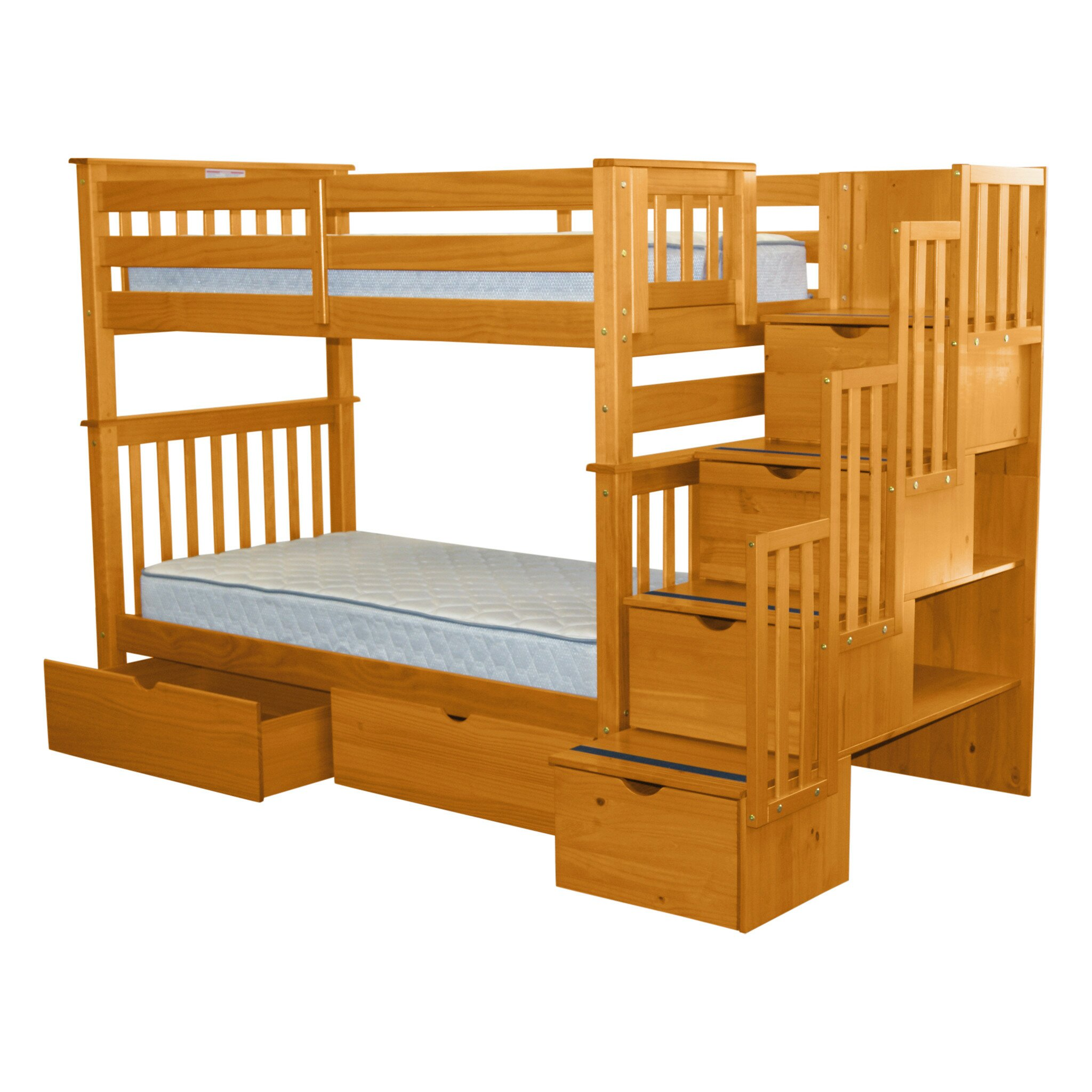 Bedz King Twin Bunk Bed With Storage Reviews Wayfair
