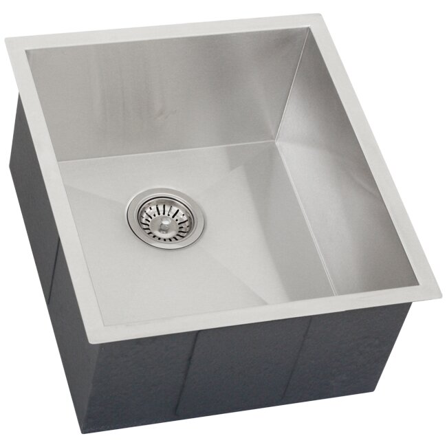 Ticor sinks ticor 18 1 2 x 20 1 2 inch zero radius 16 - Square stainless steel bathroom sink ...