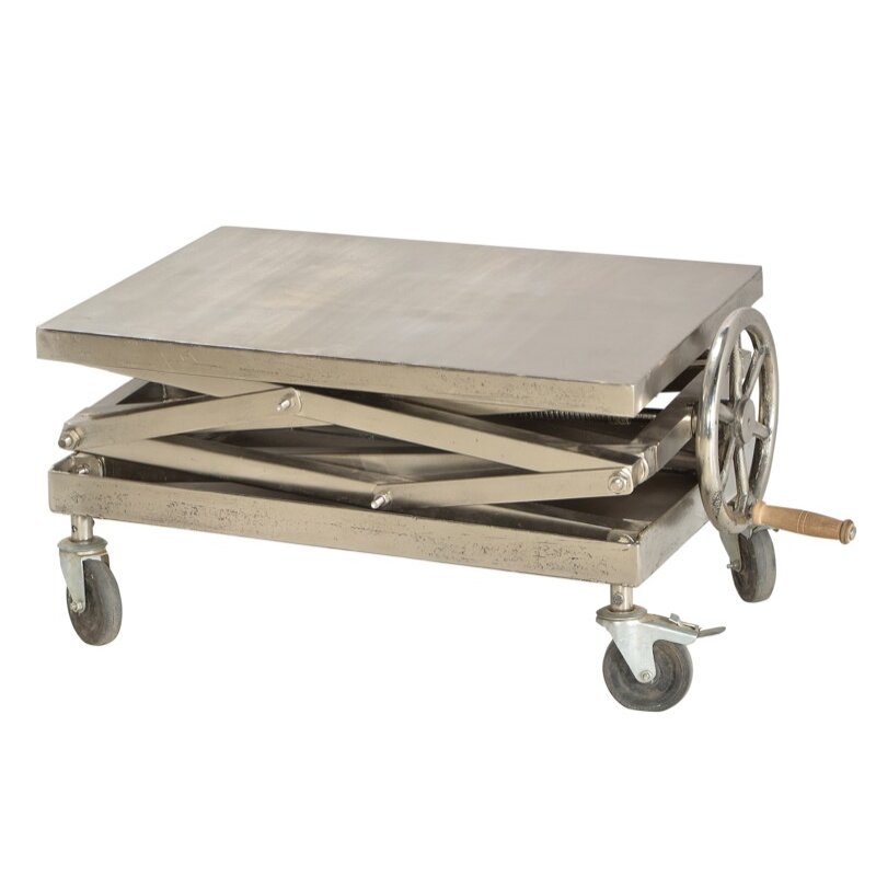 Cdi International Industrial Kitchen Cart With Mango Top: CDI International Modern Industrial Coffee Table