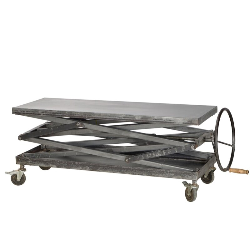 Cdi International Industrial Kitchen Cart With Mango Top: CDI International Industrial Console Table