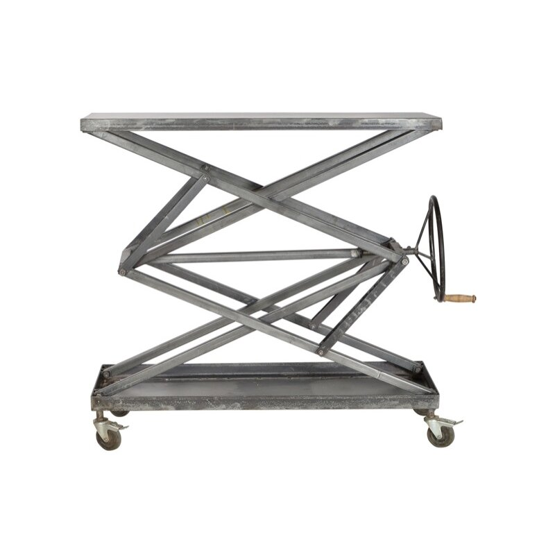 Cdi International Industrial Kitchen Cart With Mango Top: CDI International Industrial Console Table & Reviews