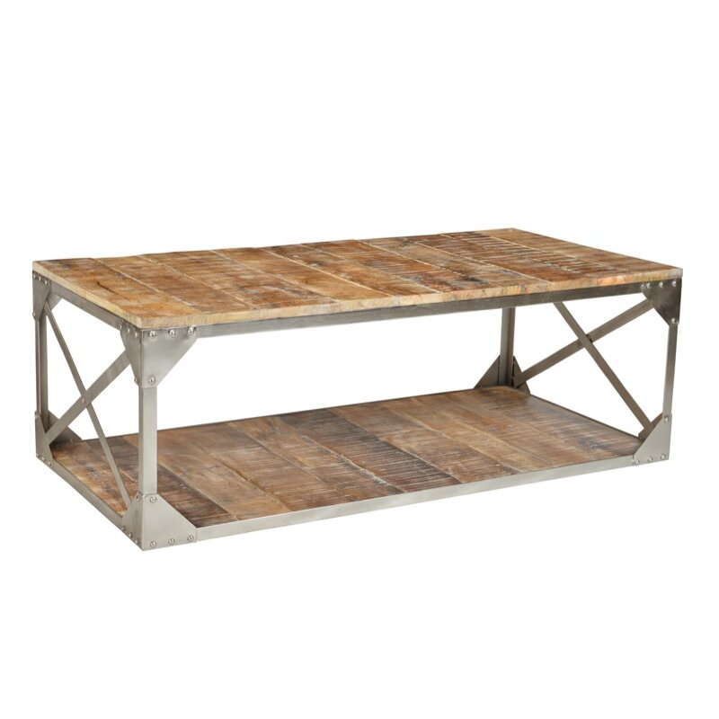 Cdi International Industrial Kitchen Cart With Mango Top: CDI International Industrial Coffee Table