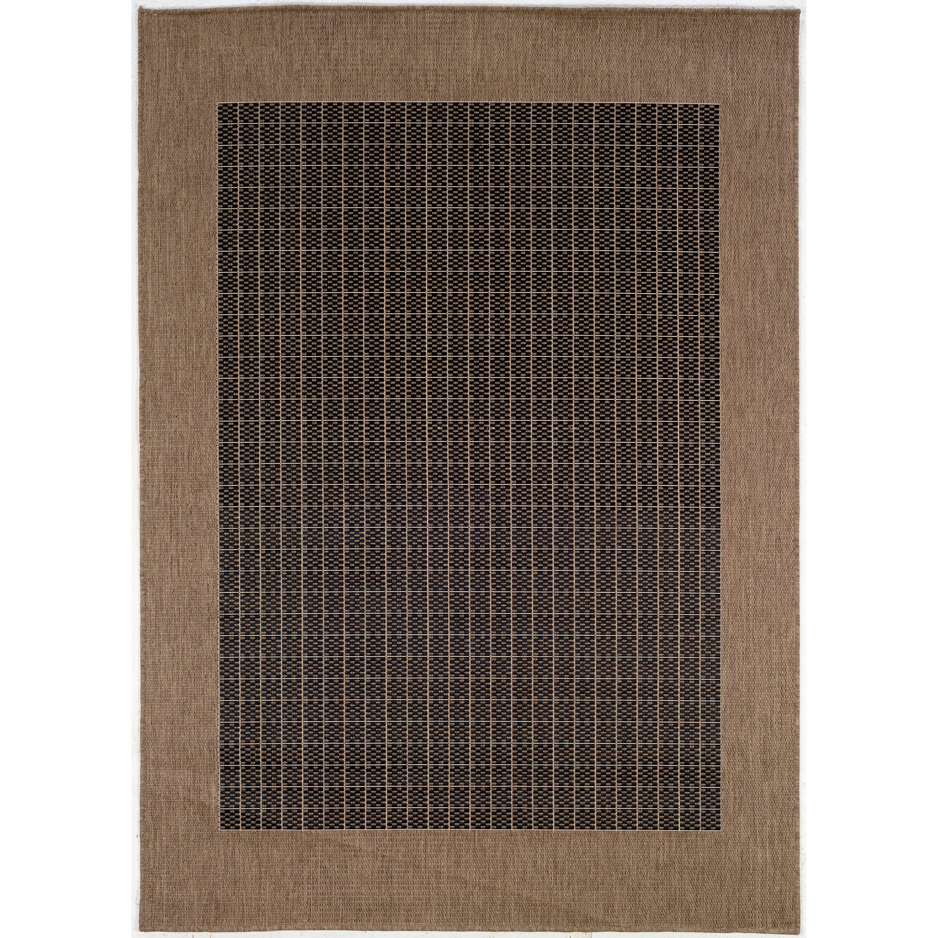 Indoor Outdoor Rugs Black And White: Couristan Recife Checkered Field Black Cocoa Indoor