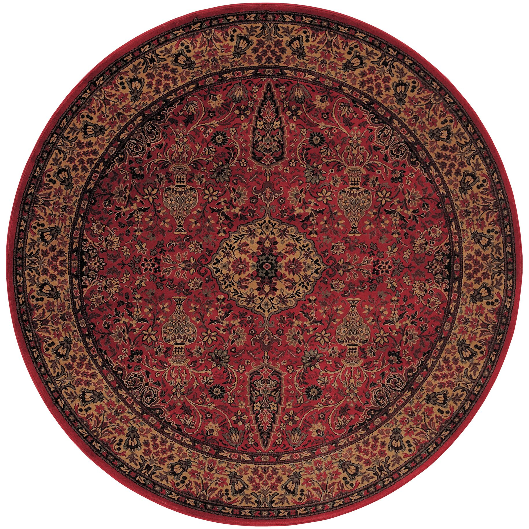 Couristan everest red gold area rug reviews for Red and gold area rugs