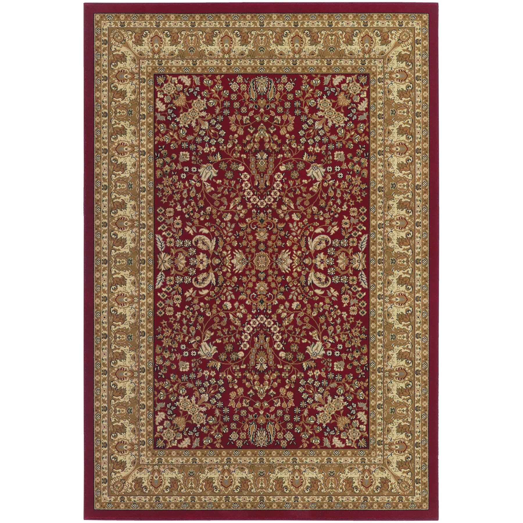 Couristan izmir floral mashhad red area rug reviews for Red floral area rug
