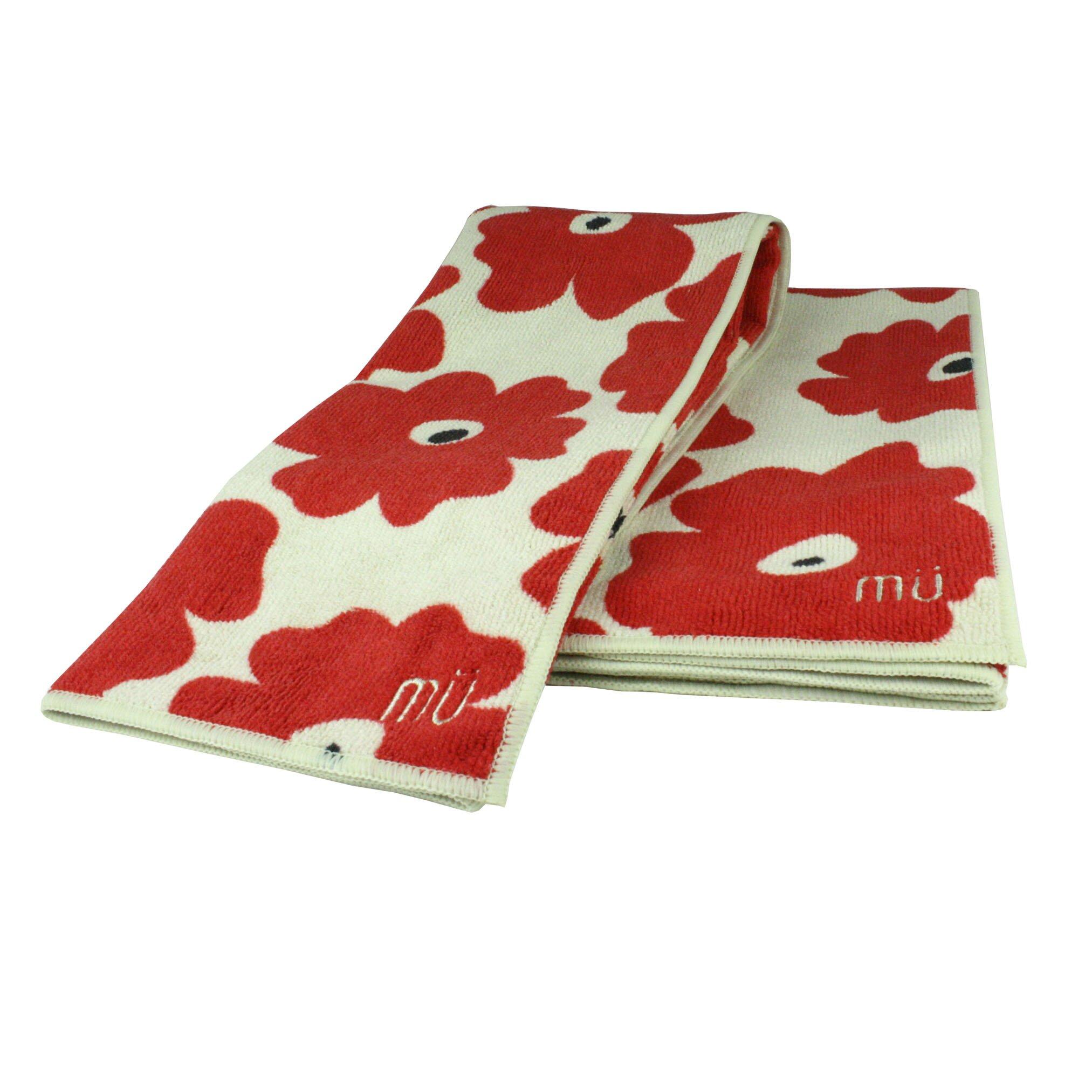 Red Kitchen Towels: MU Kitchen Poppy 2 Piece Dishcloth And Towel Set