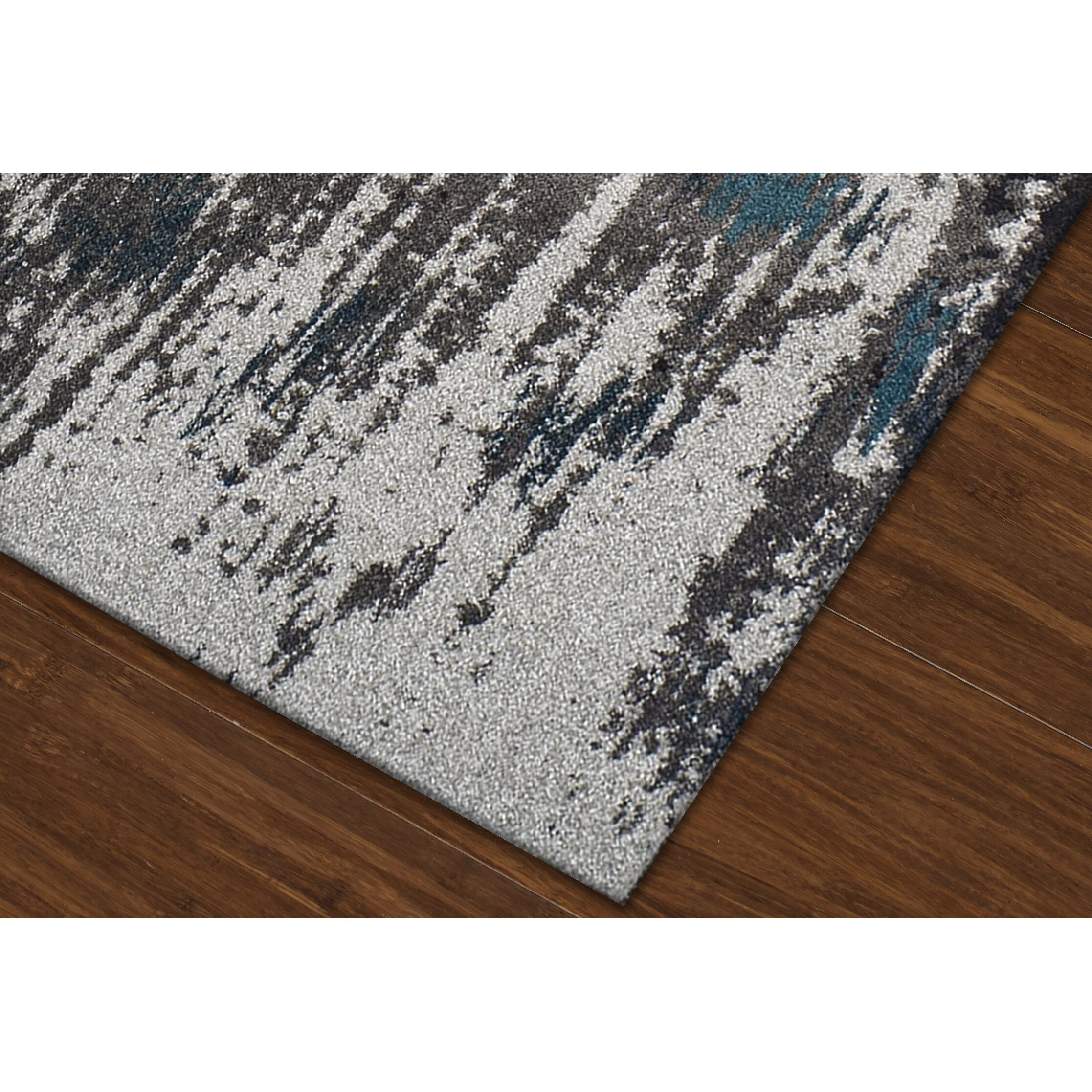 dalyn rug co modern grays dalyn teal area rug reviews wayfair. Black Bedroom Furniture Sets. Home Design Ideas