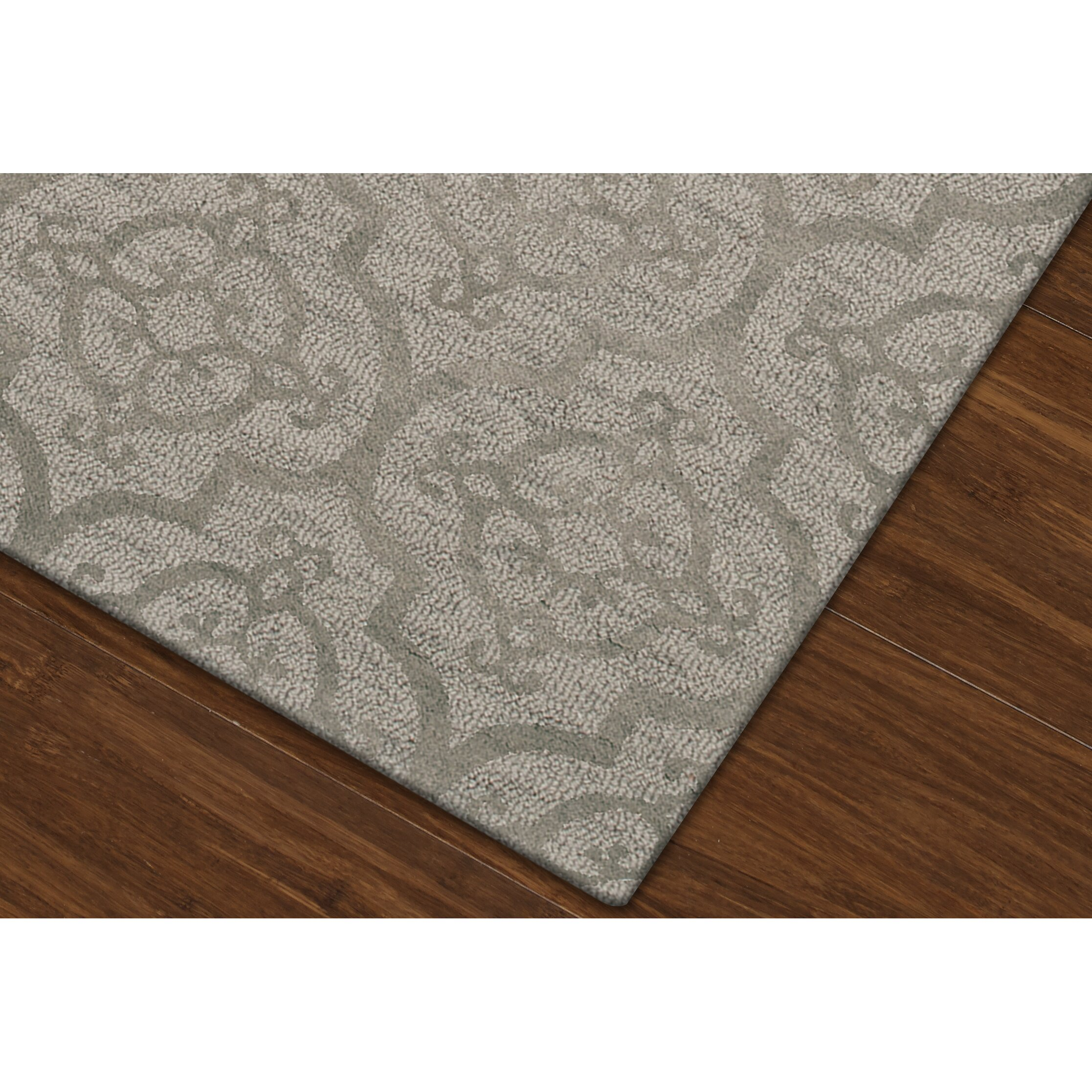 Dalyn rug co bella silver area rug wayfair for Where can i buy area rugs